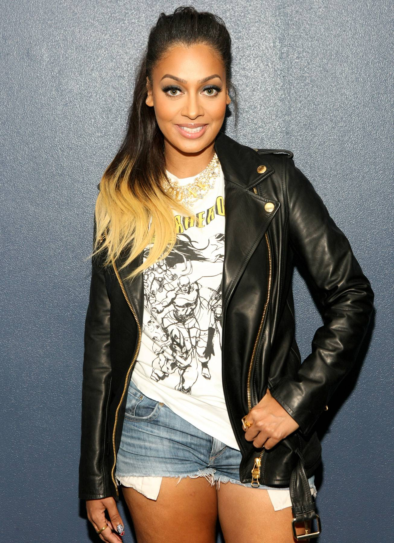 Headshot - TV personality LaLa Anthony is so beautiful that this shot backstage could be her headshot. (Photo: Bennett Raglin/BET/Getty Images for BET)