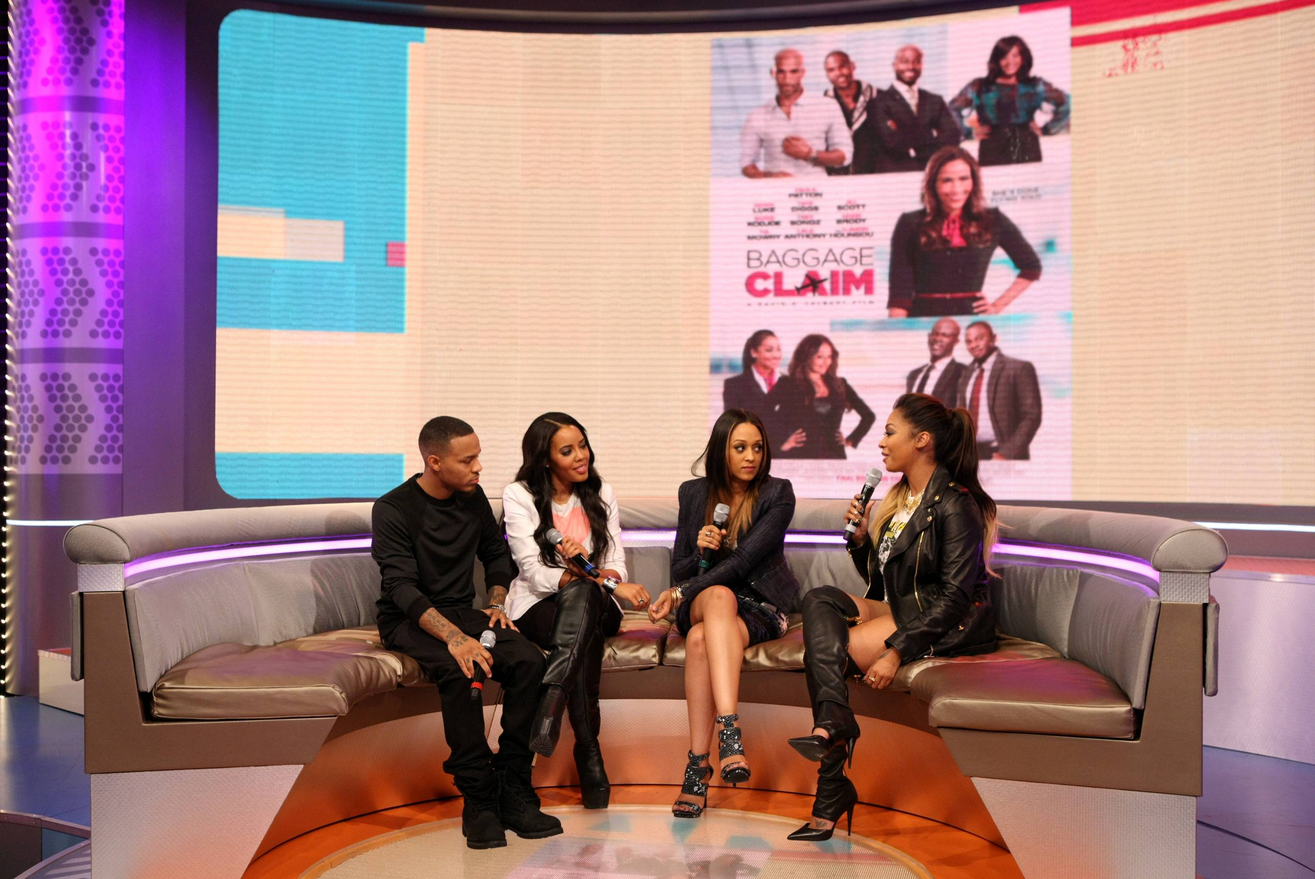 In Talks - Bow Wow, Angela Simmons,Tia Mowry-Hardrict and LaLa Anthony talk about new film Baggage Claim.(Photo: Bennett Raglin/BET/Getty Images for BET)