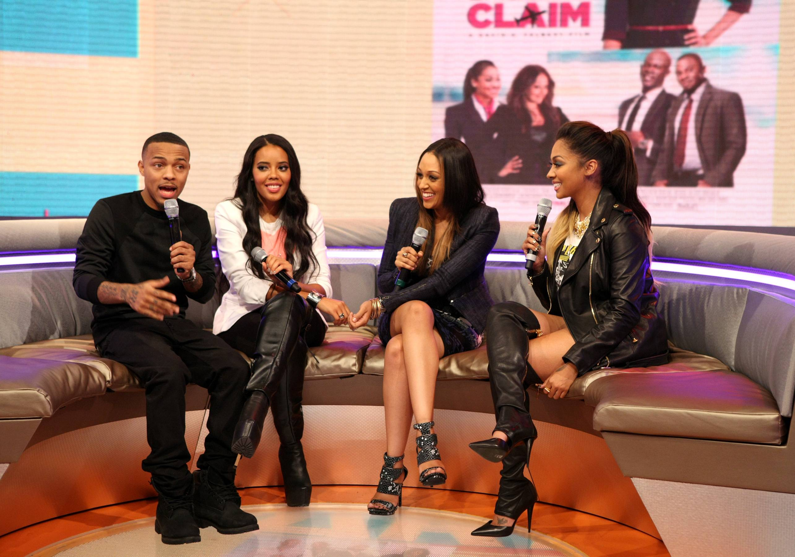 Keep Laughing - Bow Wow, Angela Simmons, Tia Mowry and LaLa Anthony all cracking up while on the set of 106. (Photo: Bennett Raglin/BET/Getty Images for BET)