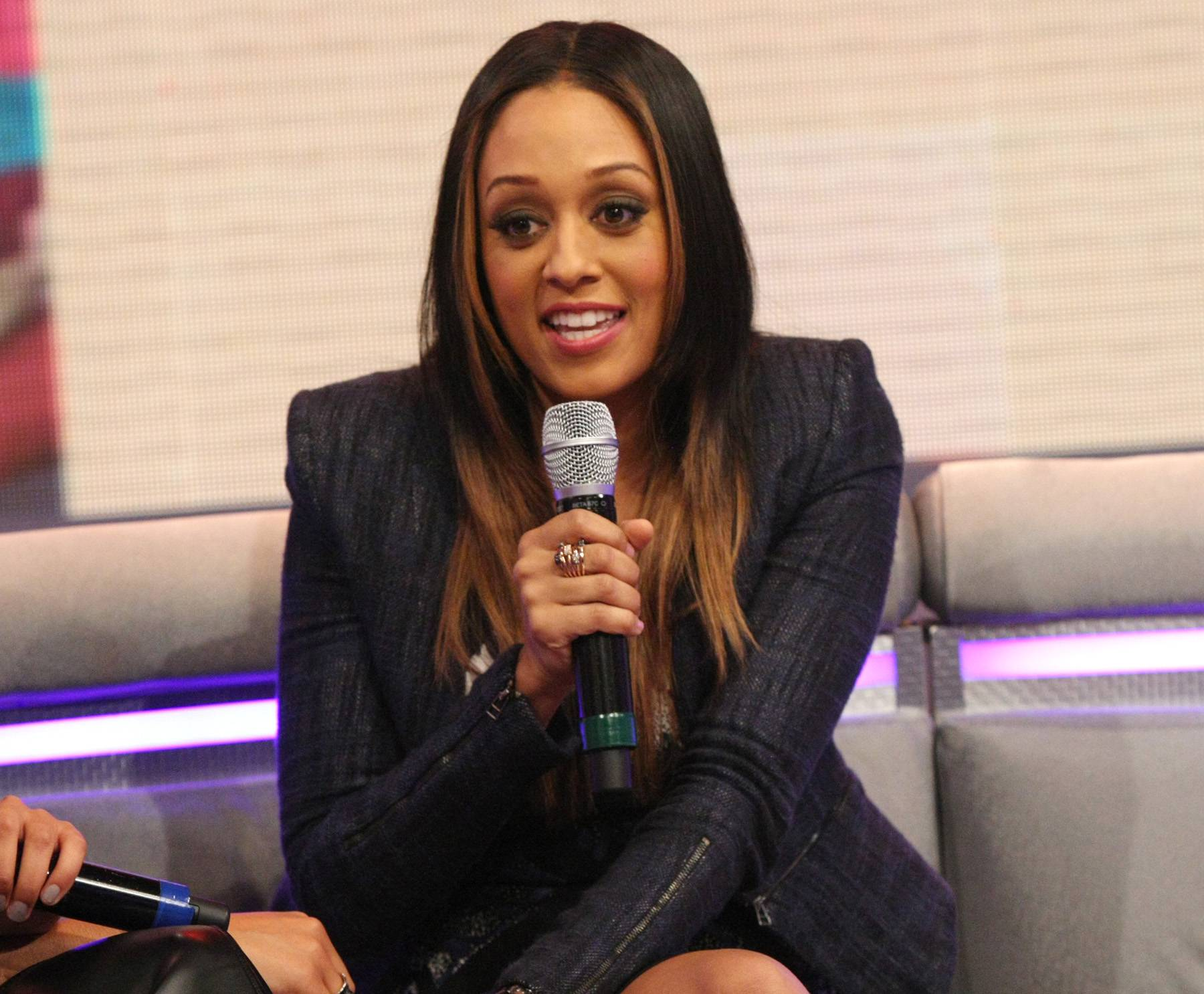 Sister, Sister - Actress Tia Mowry-Hardrict on the set of 106. (Photo: Bennett Raglin/BET/Getty Images for BET)
