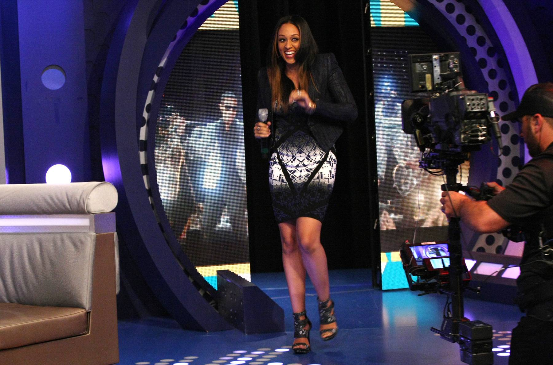 It's Me - Actress Tia Mowry-Hardrict feels the energy once she hits the livest stage.(Photo: Bennett Raglin/BET/Getty Images for BET)