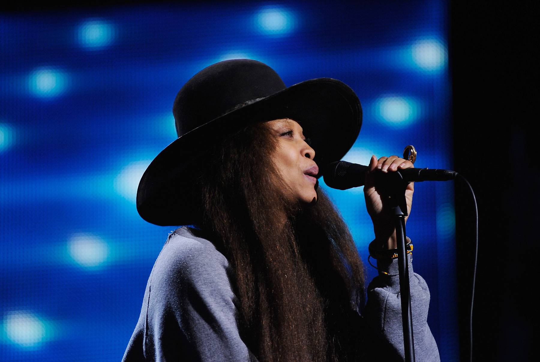 Erykah Badu Sings for Change - Erykah Badu randomly hit the NYC streets to sing for change. The 43-year-old singer said she was always curious about what it would be like to sing for change so she made it happen. The entire experiment was filmed as Badu freestyled a song. After a little over 41 minutes, she ended up only making $3.60. Watch it in actionhere.   (Photo: Kris Connor/Getty Images for BET)