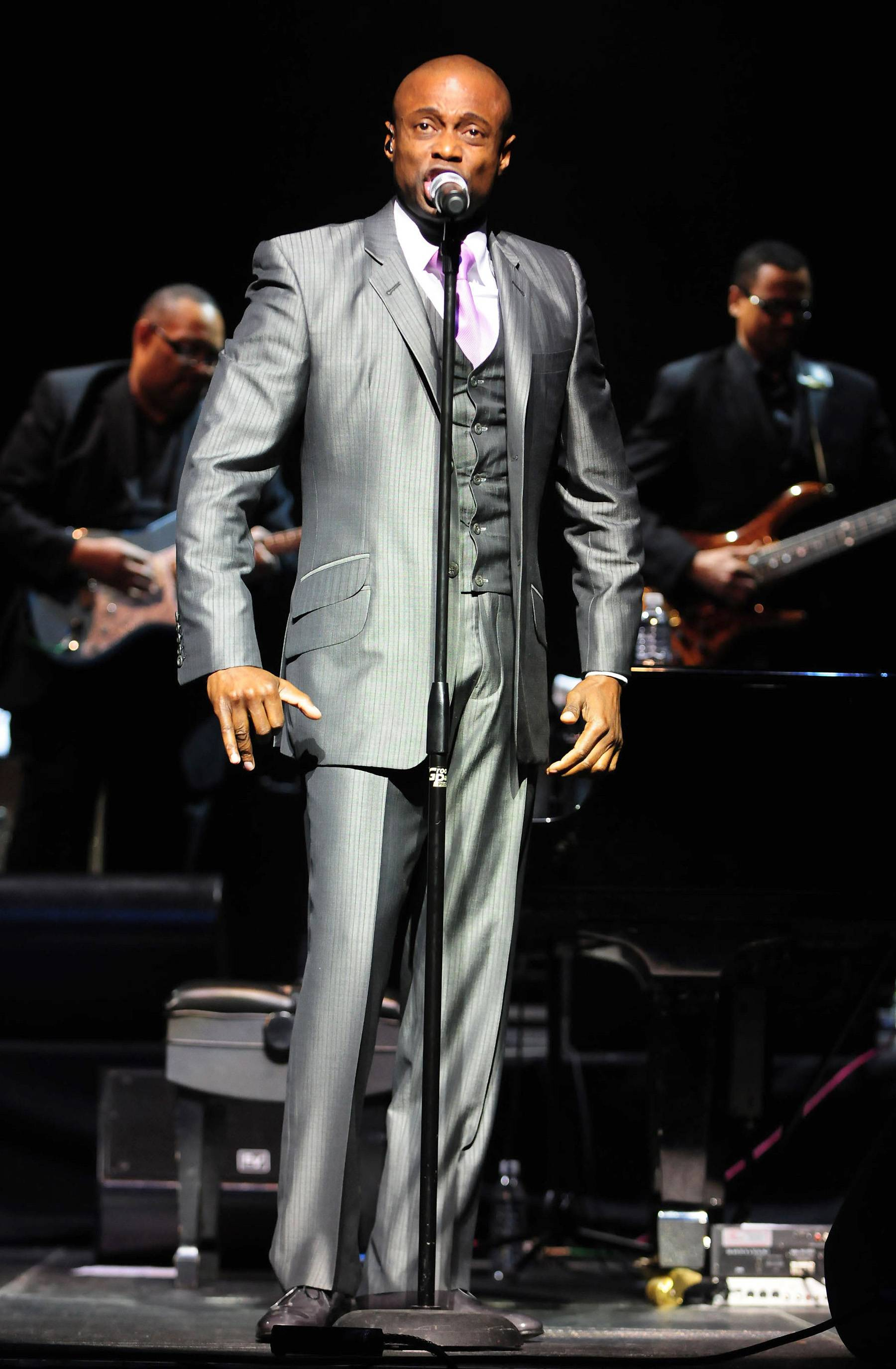 See What KEM Is Cookin' - Once again, KEM shows off his affinity for slick, chambray suiting. Perhaps he will deliver equally compelling visuals at Soul Train Awards 2014? Tune in on November 30 to find out.  (Photo: Johnny Louis/WENN.com)