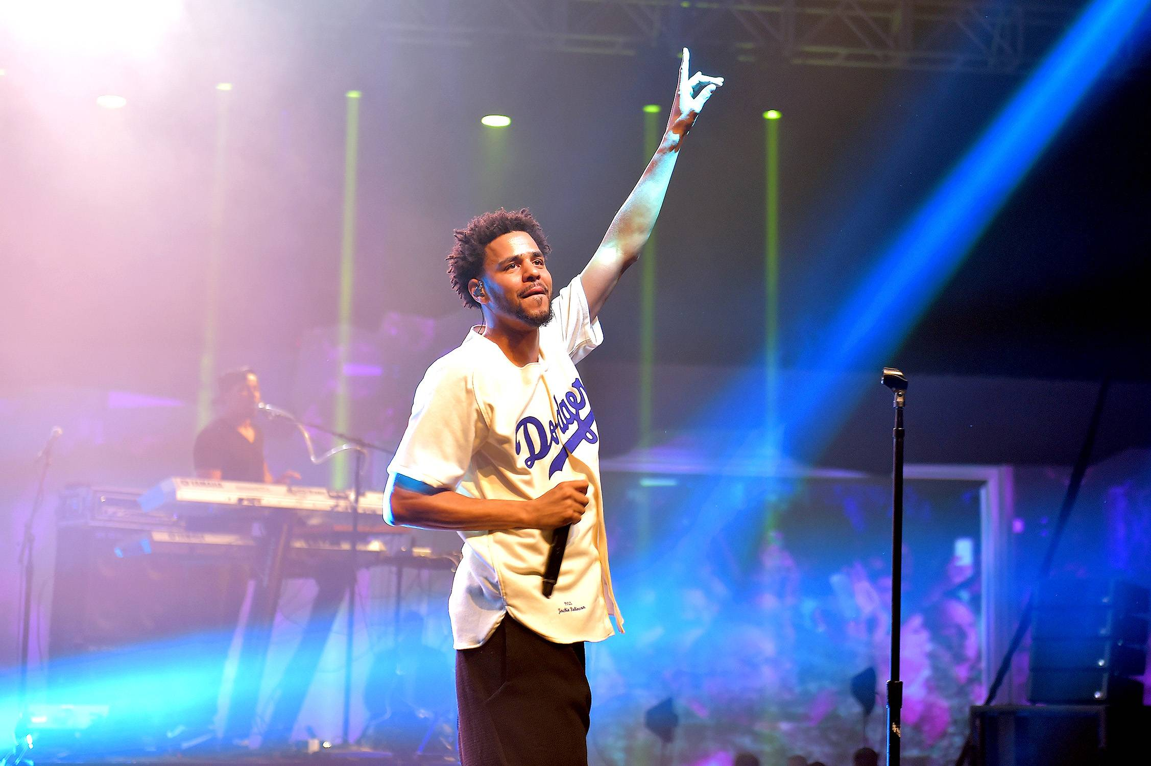 J. Cole - The #ColeWorld rapper wasn't born in the hot city of Fayetteville, North Carolina, but in Frankfurt, West Germany.   (Photo: Gustavo Caballero/Getty Images for ESPN)