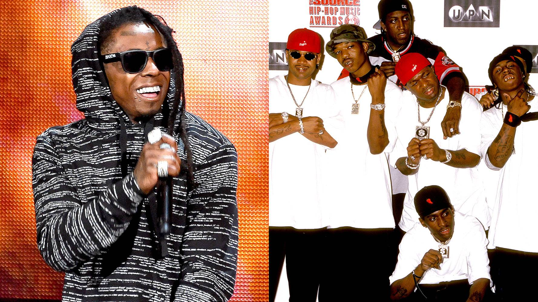 Lil' Wayne | Hot Boys  - These Hot Boys were on fire! In '99, rappers Lil' Wayne, Juvenile, BG and Turk dropped Guerilla Warfare and demanded their respect after selling over 1.5 million since its release. Lil' Wayne is sitting on millions now with an awesome solo career and top exec positions. Must be nice! (Photos from Left: Kevin Winter/Getty Images, Ron Galella, Ltd./WireImage/Getty Images)