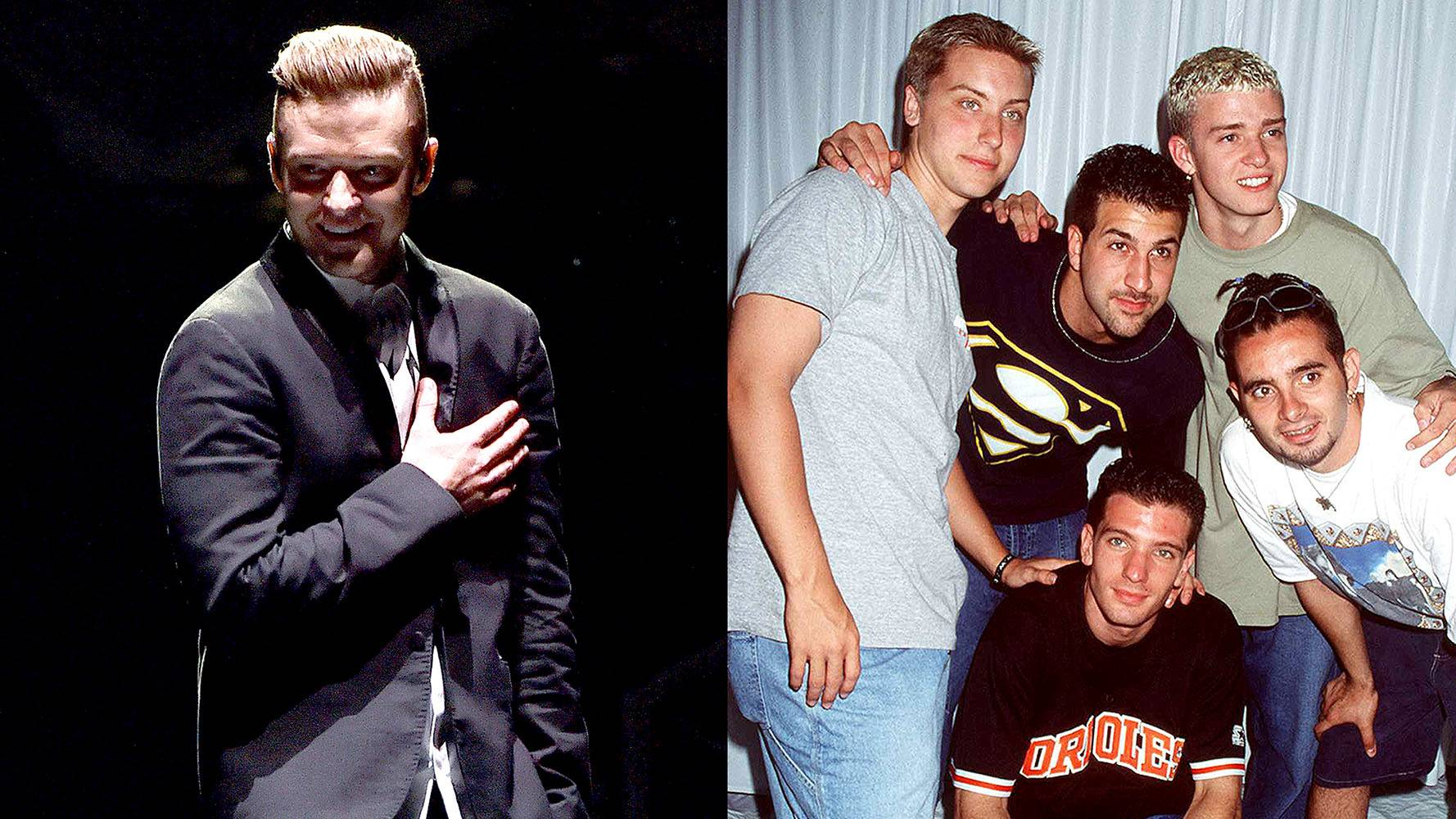Justin Timberlake | N'Sync  - Let's be absolutely real, when you saw this list, the first person you thought of was JT! So it's no surprise that the pop group N'Sync and Justin Timberlake made this list. They set off the '90s airwaves for so long, it's sad to think they're not still together. (Photos from Left: Kevin Winter/Getty Images for JT, Brenda Chase/Getty Images)