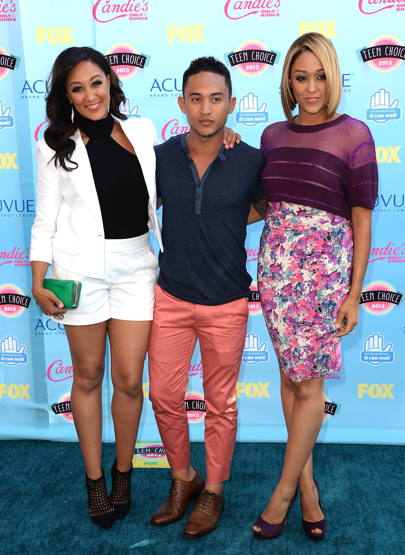 The Mowrys  - From Sister Sister to Smart Guy, these actors have more in common than just television. Tamera Mowry, Tahj Mowry and Tia Mowry are also siblings. (Photo: Jason Merritt/Getty Images)