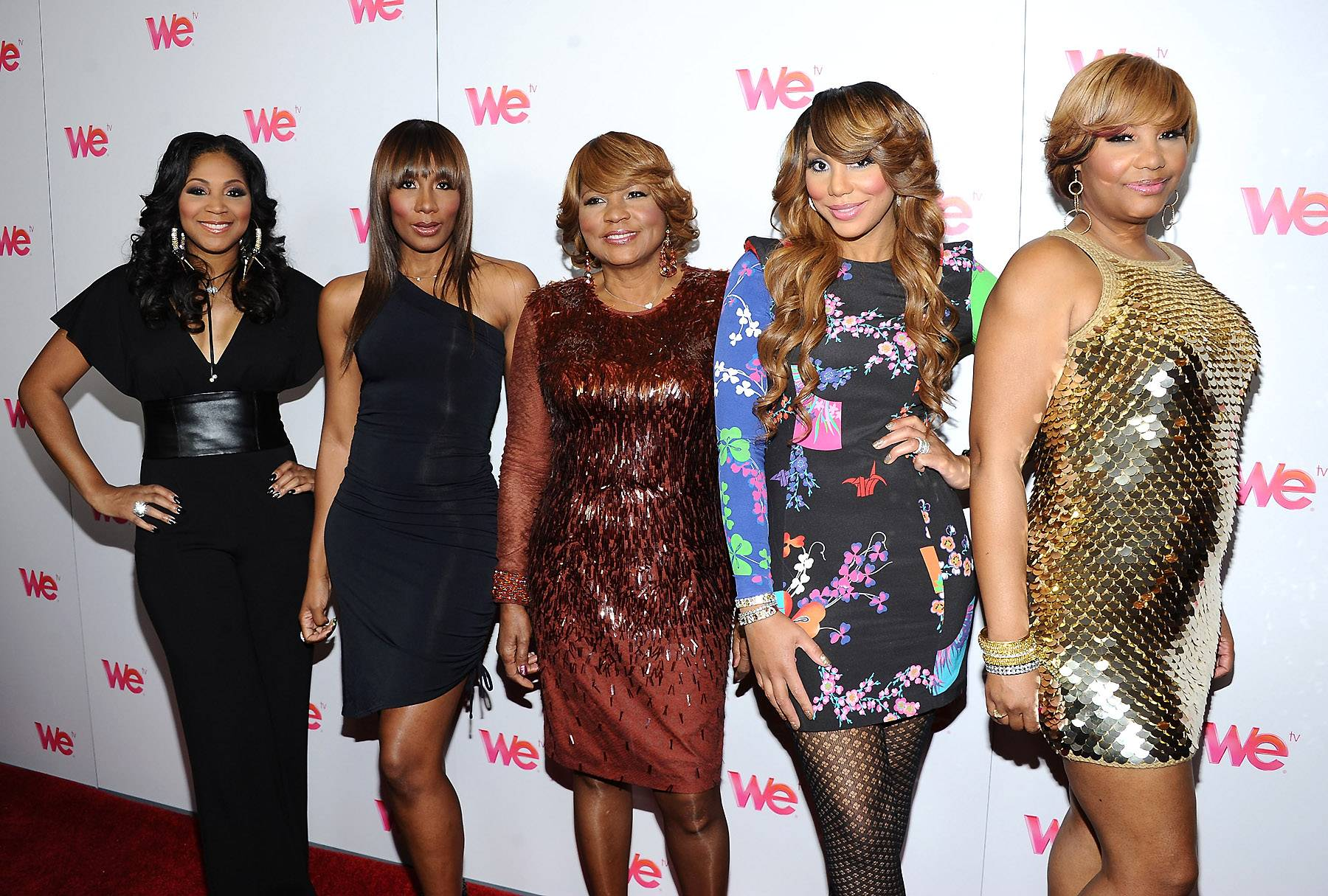 The Braxton Sisters  - They are more than just five beautiful ladies, they are also uber talented. All five TV personalities,Trina Braxton, Towanda Braxton, Toni Braxton, Tamar Braxton and Traci Braxton, can really sing! They're like a female version of the Jackson clan. (Photo: Angela Weiss/Getty Images)