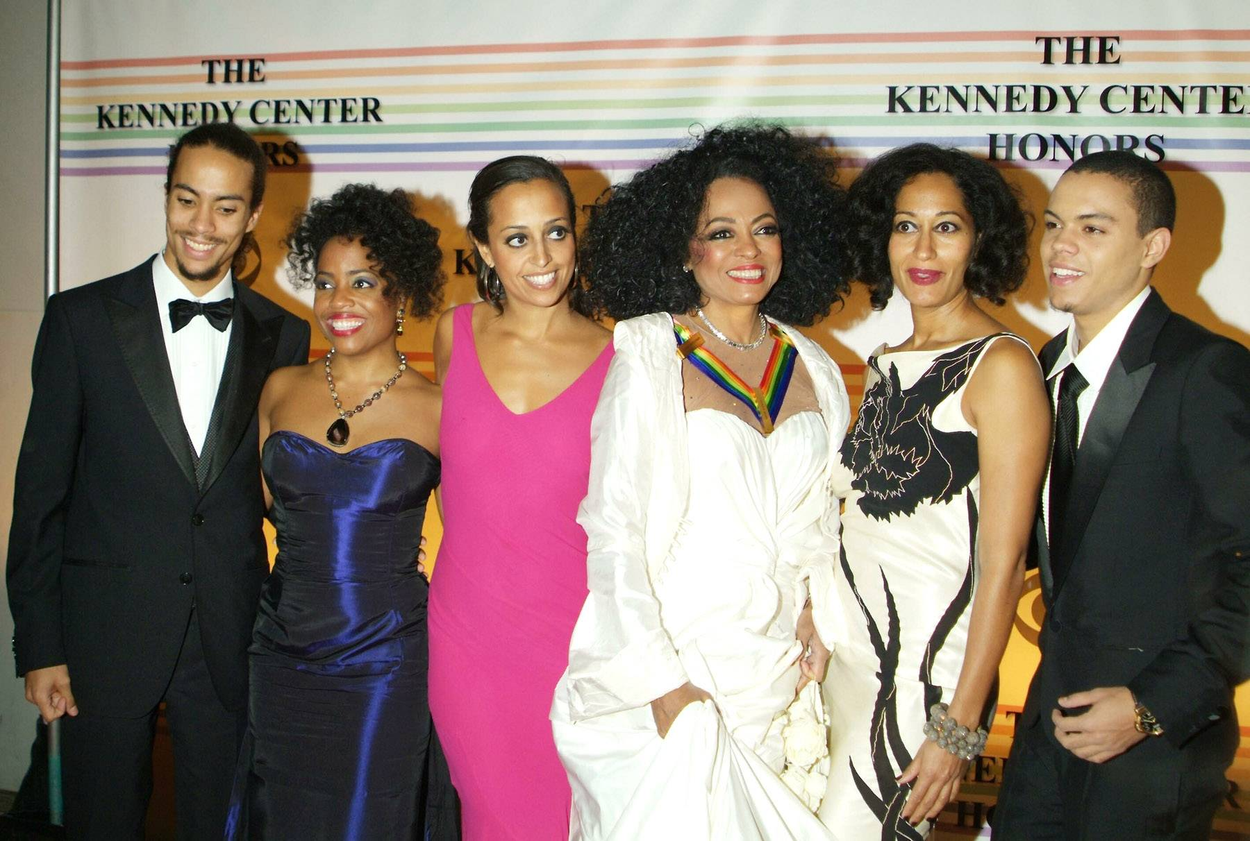 The Royal Ross Family  - Diana Rosshas five beautiful kids, and two of them may or may not come as a surprise to you. Tracee Ellis Ross of Black-ish and Evan Ross of ATL both are the famous Diana Ross's children, their fathers are Robert Ellis Silberstein and Arne Naess Jr. accordingly.(Photo: Young/Drummond / Splash News)