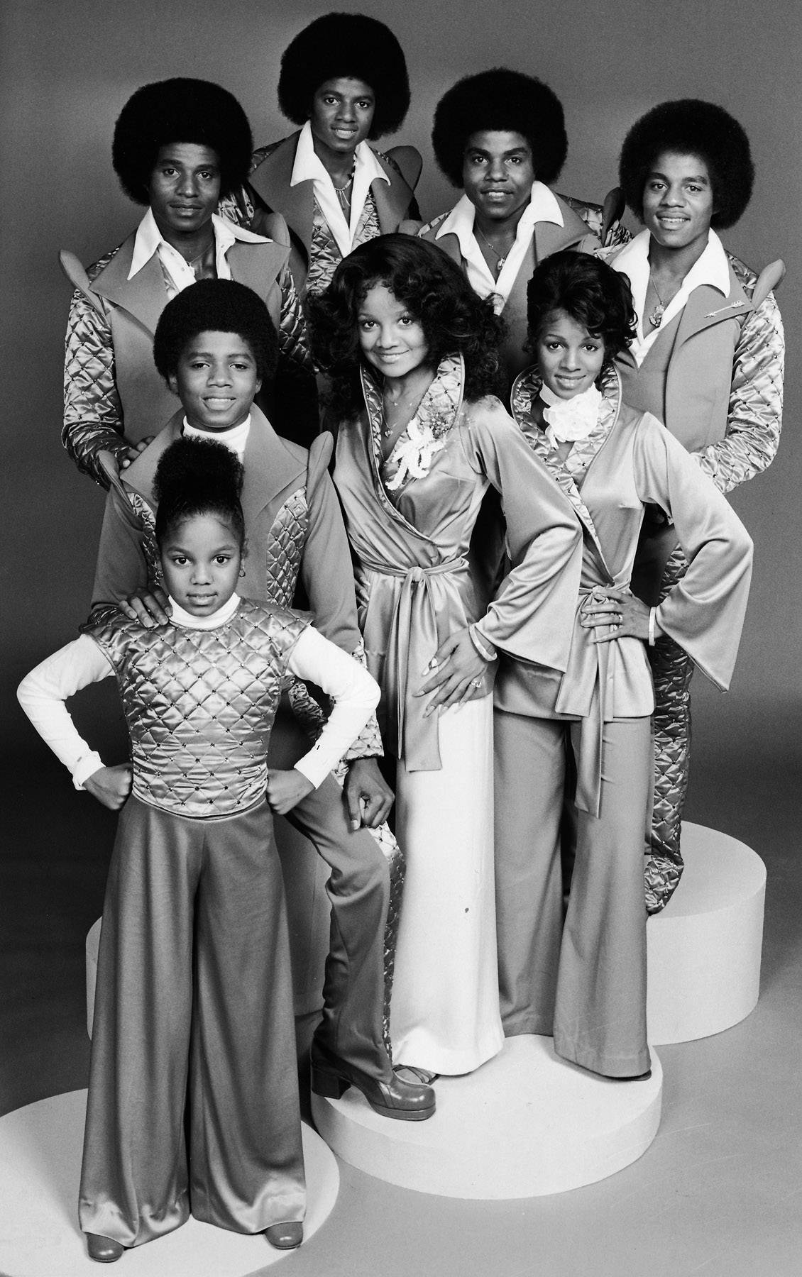 The Jacksons  - Let's do a head count! America's favorite mega-talented family The Jacksons consisted of: Janet, Randy, Jackie, Michael, Tito, Marlon, La Toya and Rebbie. (Photo: CBS/Getty Images)