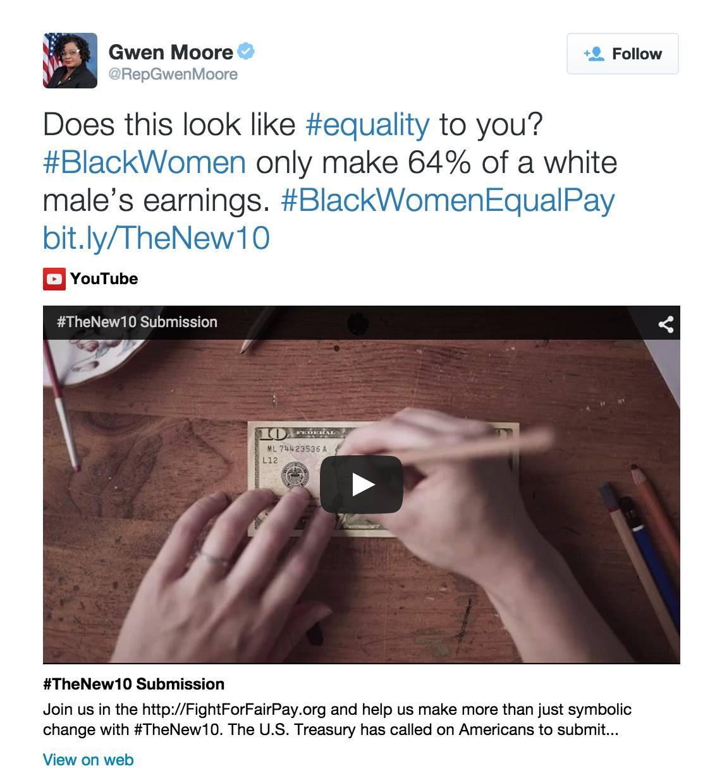 @RepGwenMoore - (Photo: American Association of University Women (AAUW) via Gwen Moore via Twitter)