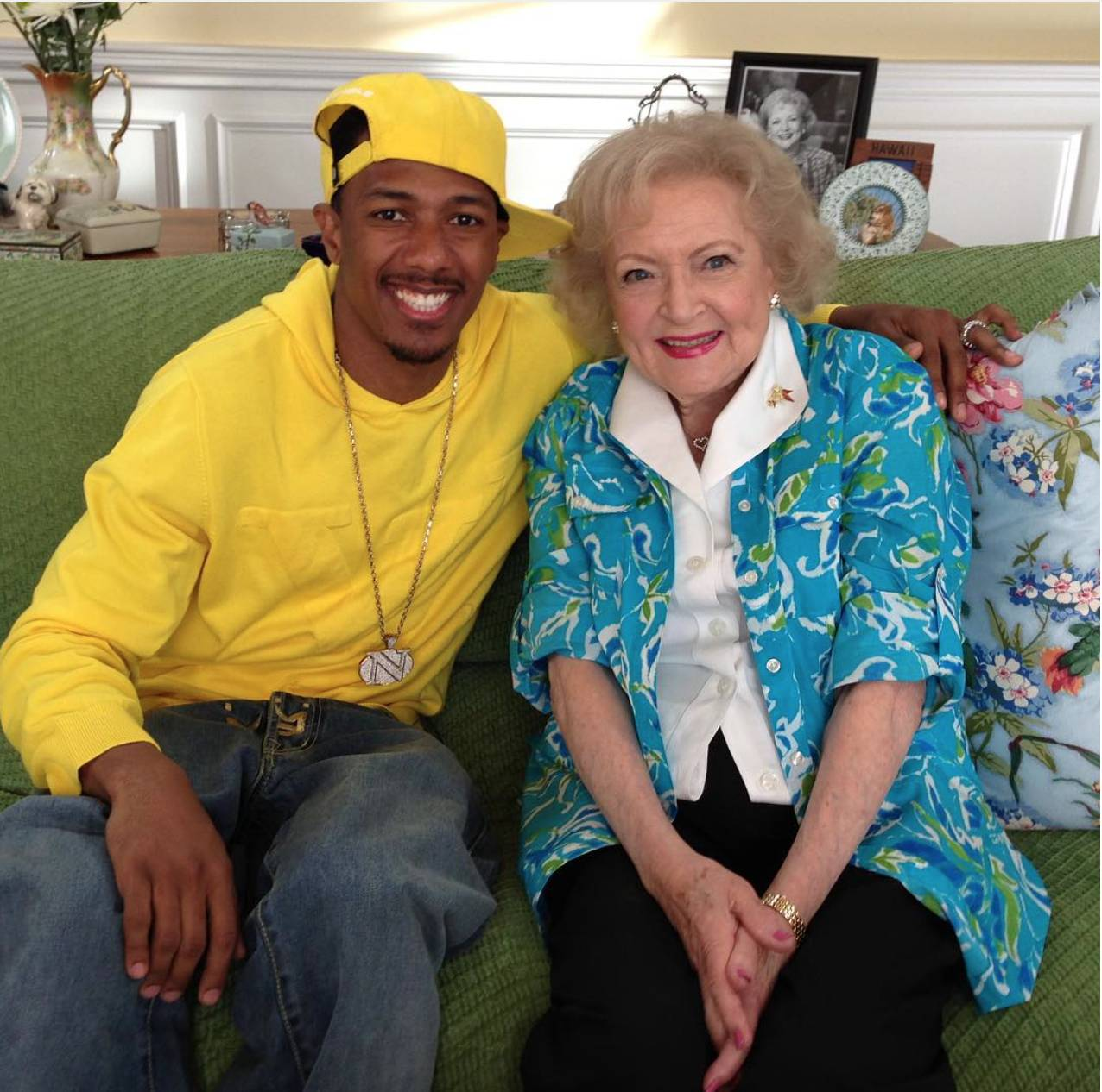 Nick Hung Out With Betty White - It's just how Nick does.  (Photo: Nick Cannon via Instagram)