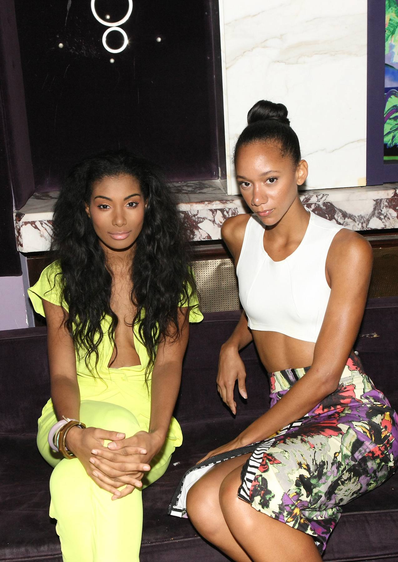 Smize - Tyra would be proud as these models smize for the camera backstage. (Photo: Bennett Raglin/BET/Getty Images for BET)