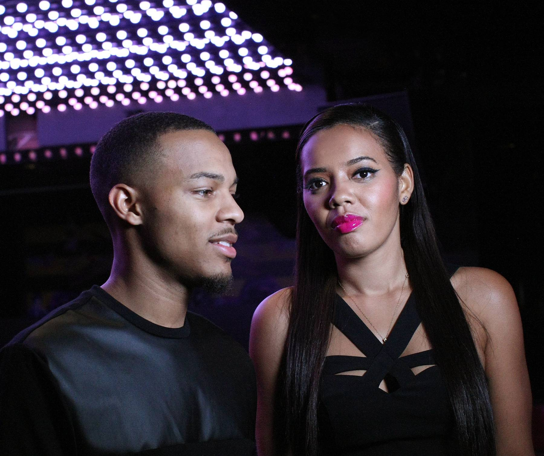 BFFs - Hosts Angela Simmons and Bow Wow share a candid moment while backstage.(Photo: Bennett Raglin/BET/Getty Images for BET)