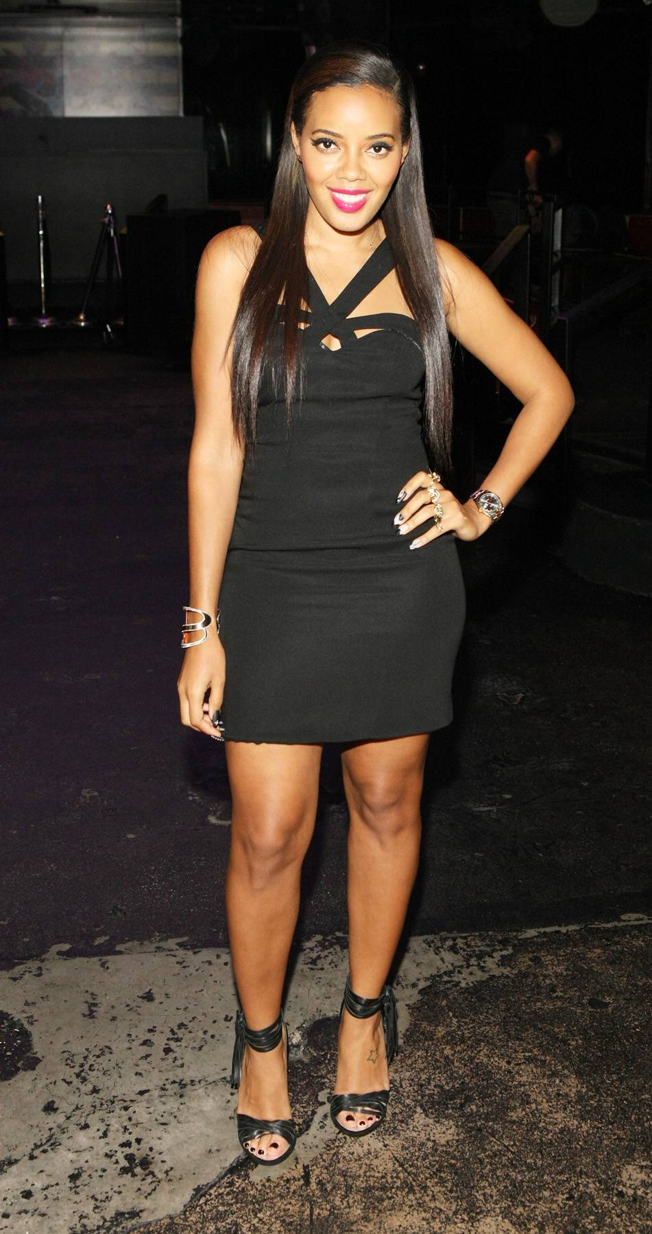 Pose for the Camera - Host Angela Simmons gives us a little pose while on 106. (Photo: Bennett Raglin/BET/Getty Images for BET)