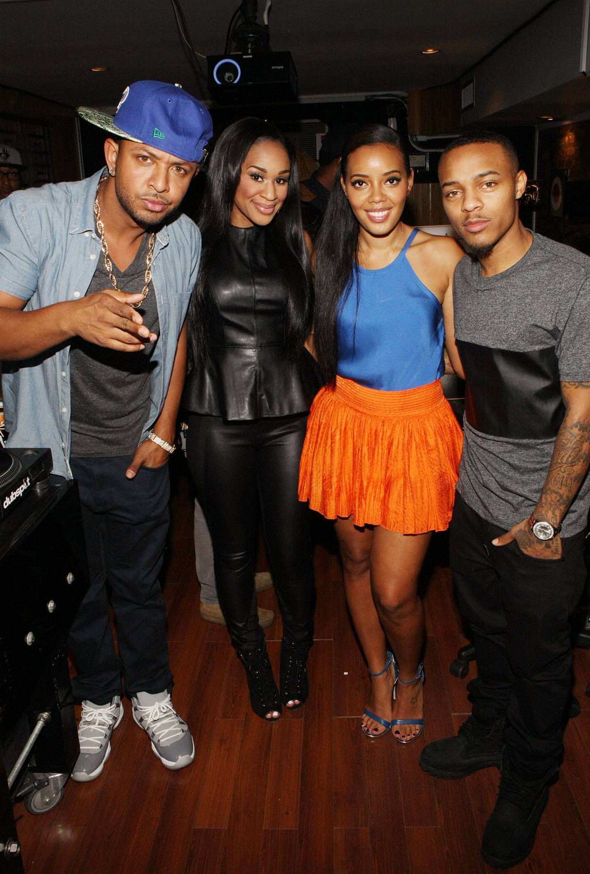 Young Jocks - DJ Babey Drew and DJ Traci Steele teach Angela Simmons and Bow Wow how to be disc jockeys on 106. (Photo: Bennett Raglin/BET/Getty Images for BET)