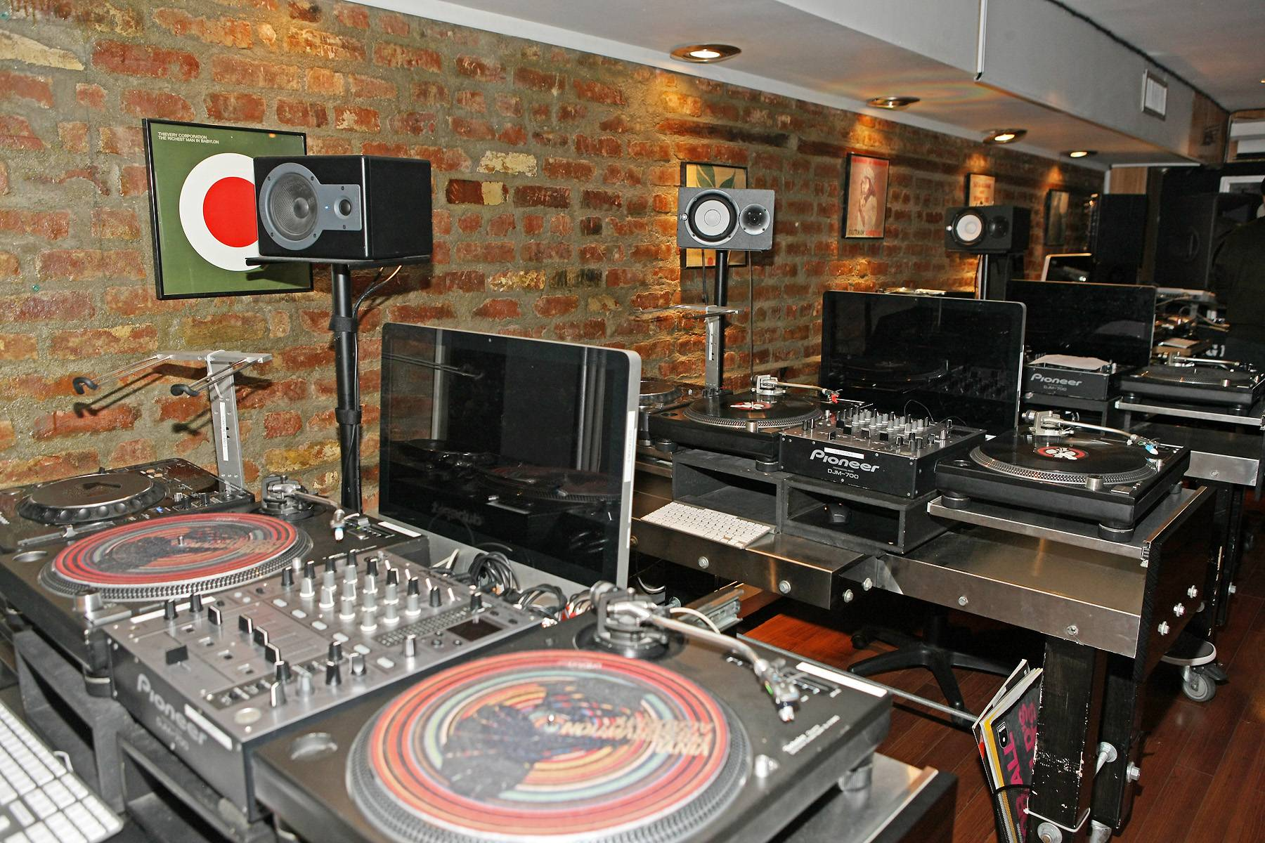 Mix Masters - Check out all the equipment at the Dubspot venue. (Photo: Bennett Raglin/GettyImages/BET)