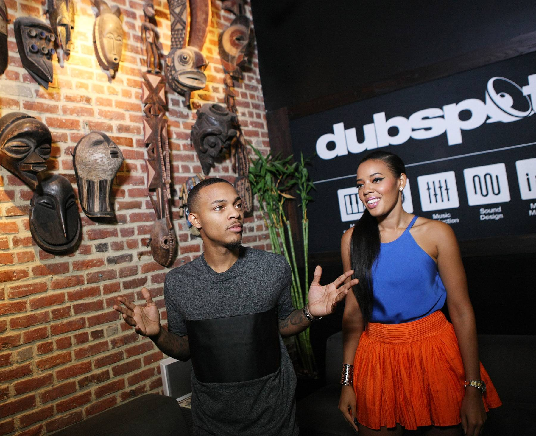 Ready Those Beats - Hosts Bow Wow and Angela Simmons enter Dubspot for their lesson on how to make beats. (Photo: Bennett Raglin/BET/Getty Images for BET)