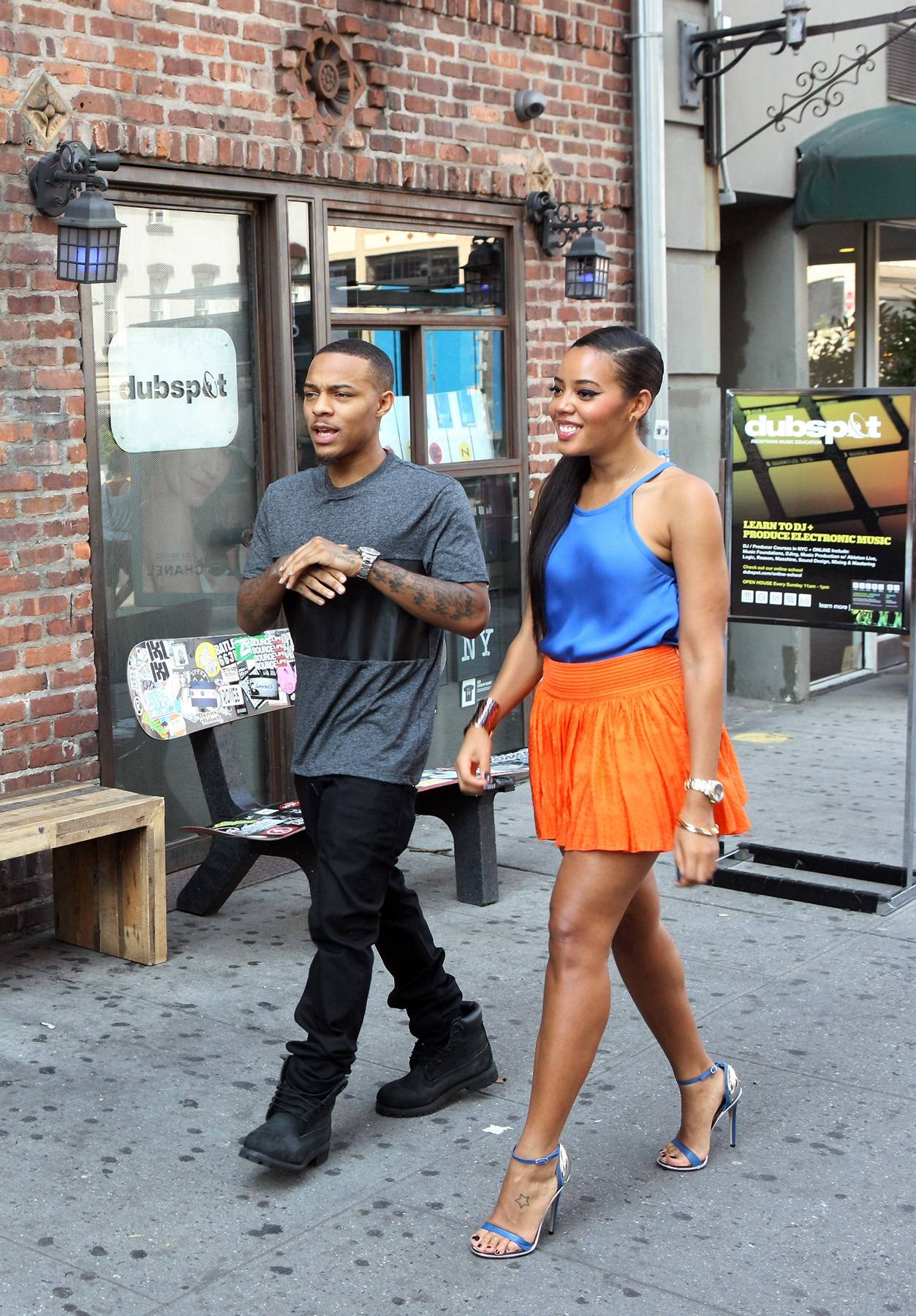 Street Runway - Hosts Bow Wow and Angela Simmons take a walk on the street while on the 106 set. (Photo: Bennett Raglin/BET/Getty Images for BET)