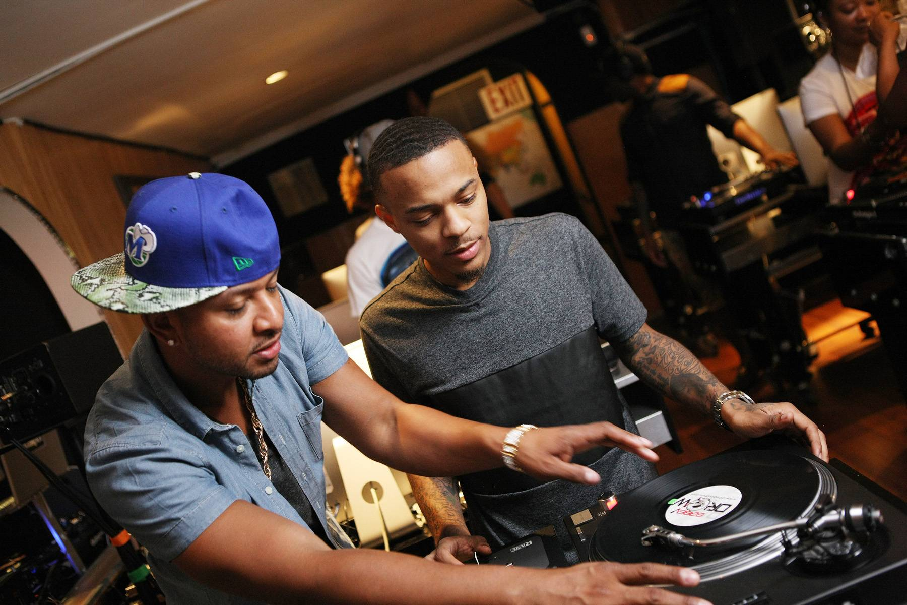 Show Us What You Got! - DJ Babey Drew sees if Bow Wow has what it takes to master the mix. (Photo: Bennett Raglin/BET/Getty Images for BET)