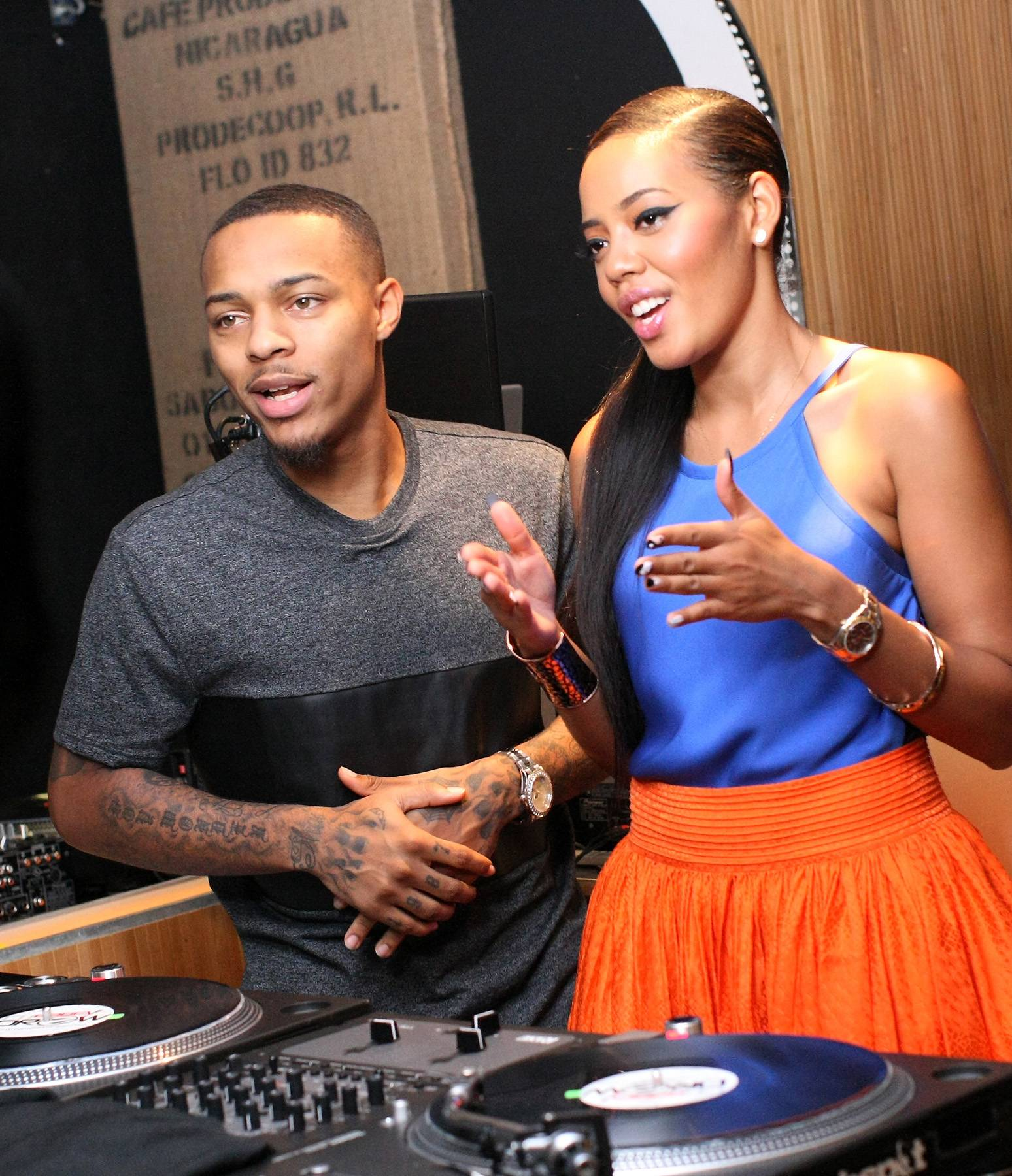 Fun in Class - Hosts Bow Wow and Angela Simmons pay close attention to their instructors on 106. (Photo: Bennett Raglin/BET/Getty Images for BET)