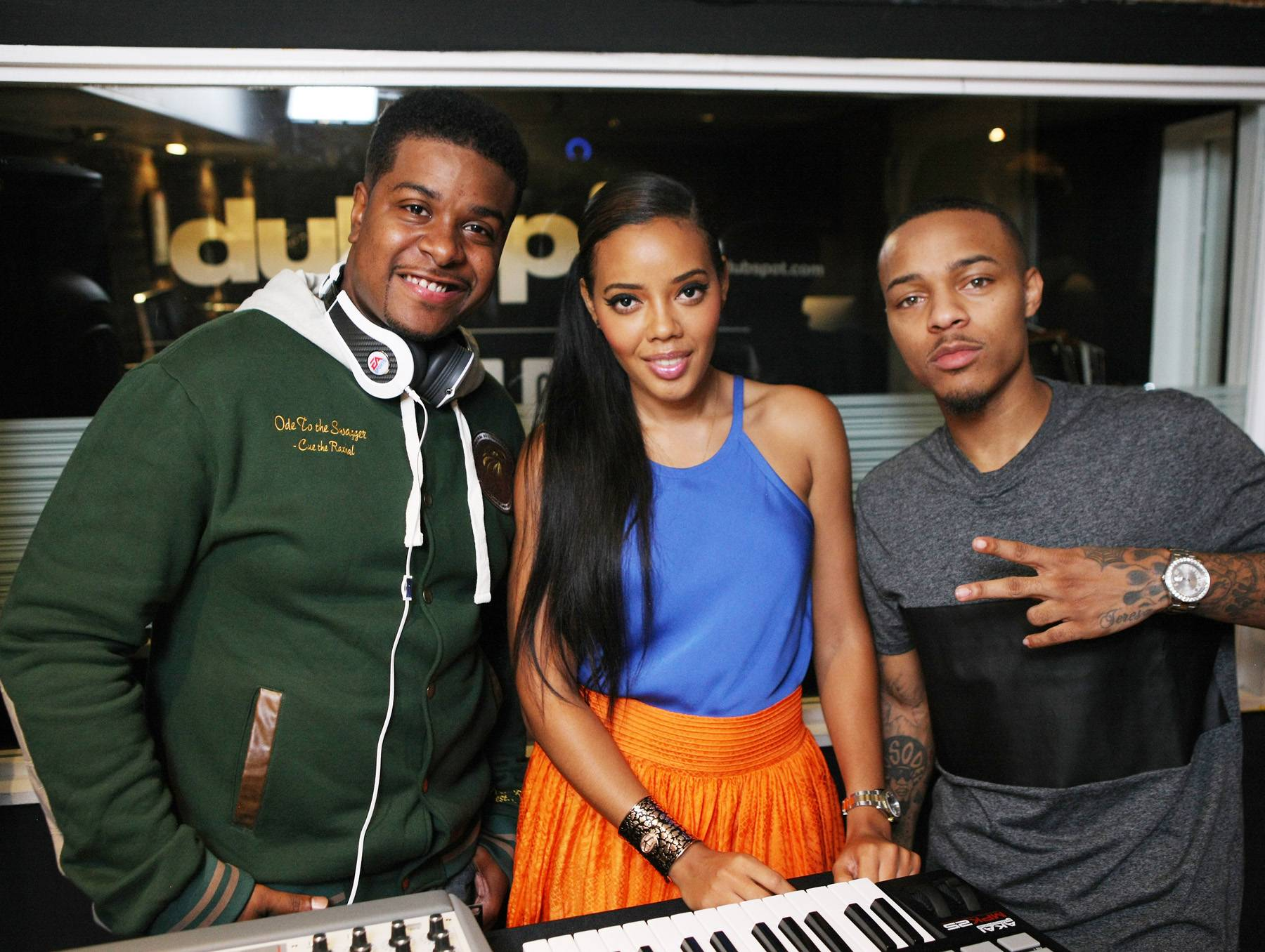 Smooth Beats - Music producer Amadeus, Angela Simmons and Bow Wow coolin' on 106. (Photo: Bennett Raglin/BET/Getty Images for BET)