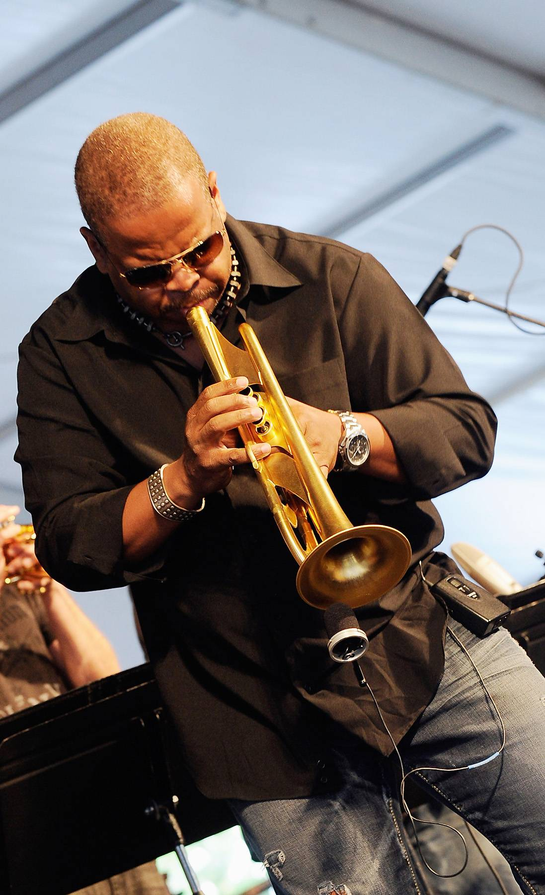 """Best Traditional Jazz Performance:Terrence Blanchard - """"Pet Step Sister?s Theme Song"""" - Blanchard and his stellar band, including drummer Kendrick Scott and Cuban pianist Fabian Almazon and saxophonist Brice Winston get things moving with this swinging tune off his latest album, Magnetic.(Photo: Rick Diamond/Getty Images)"""