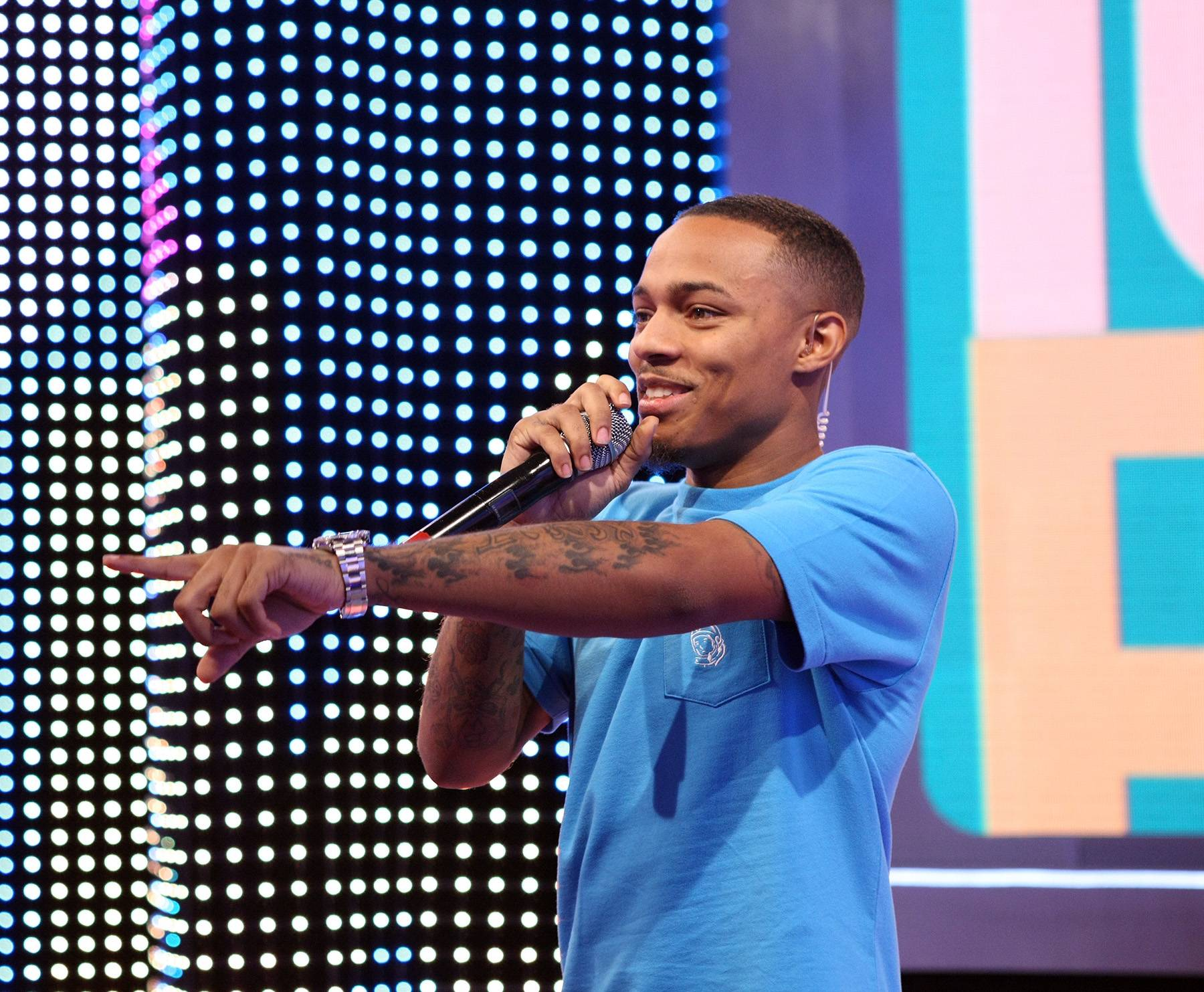 Ayyy - Bow Wow calling someone out in the livest audience. (Photo: Bennett Raglin/BET/Getty Images for BET)
