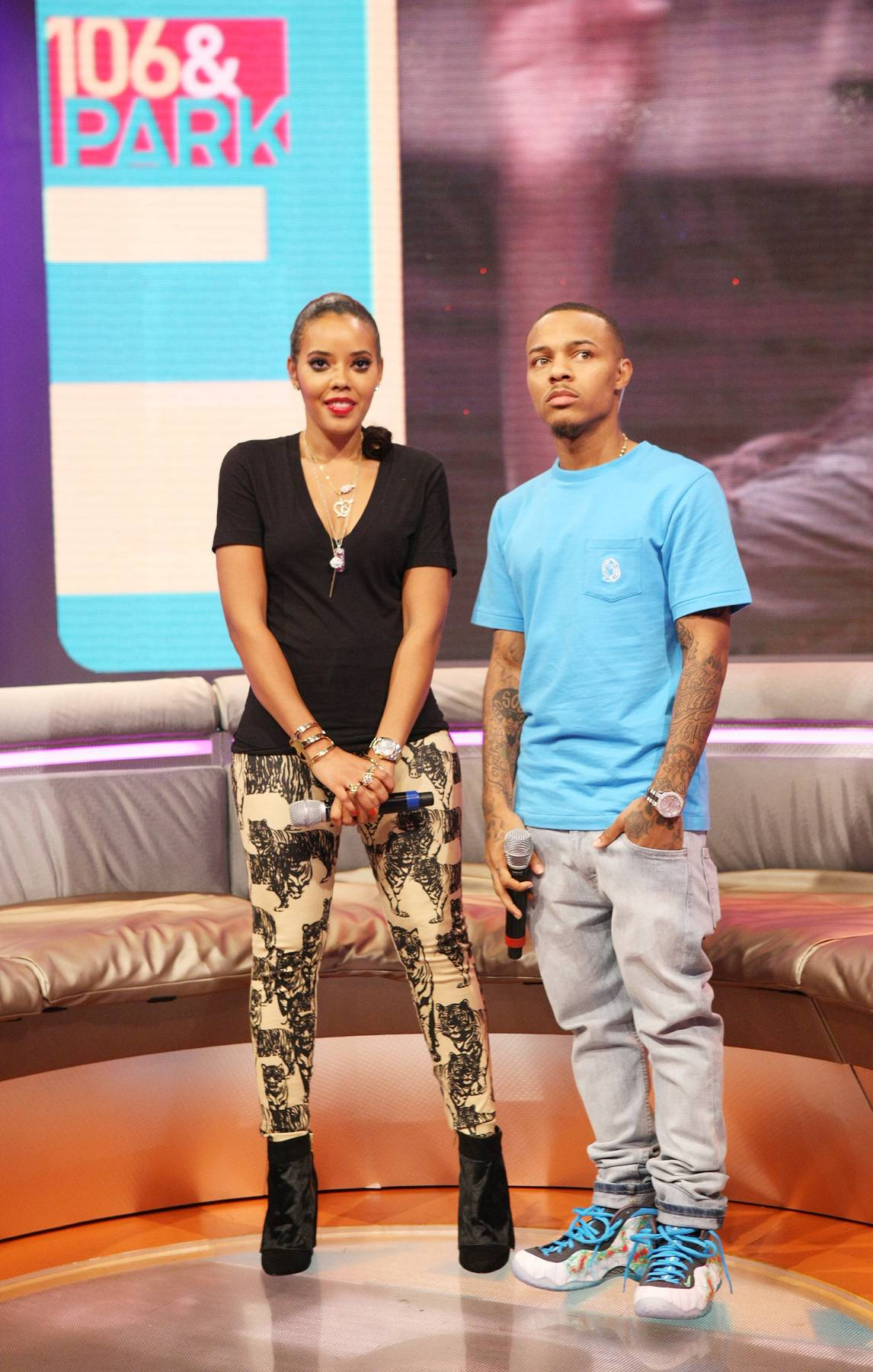 Ready Children? - 106 & Park hosts Angela Simmons and Bow Wow attend 106 & Park September 12, 2013, in New York City. (Photo: Bennett Raglin/BET/Getty Images for BET)