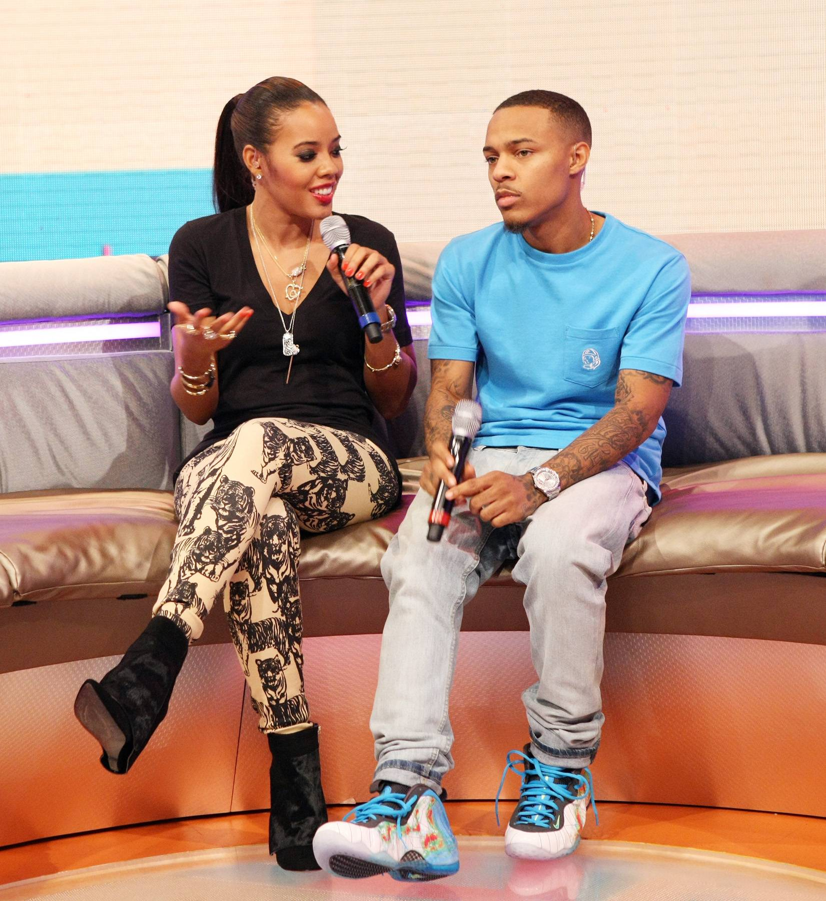Smile a Little - Hosts Angela Simmons and Bow Wow on the 106 set. (Photo: Bennett Raglin/BET/Getty Images for BET)