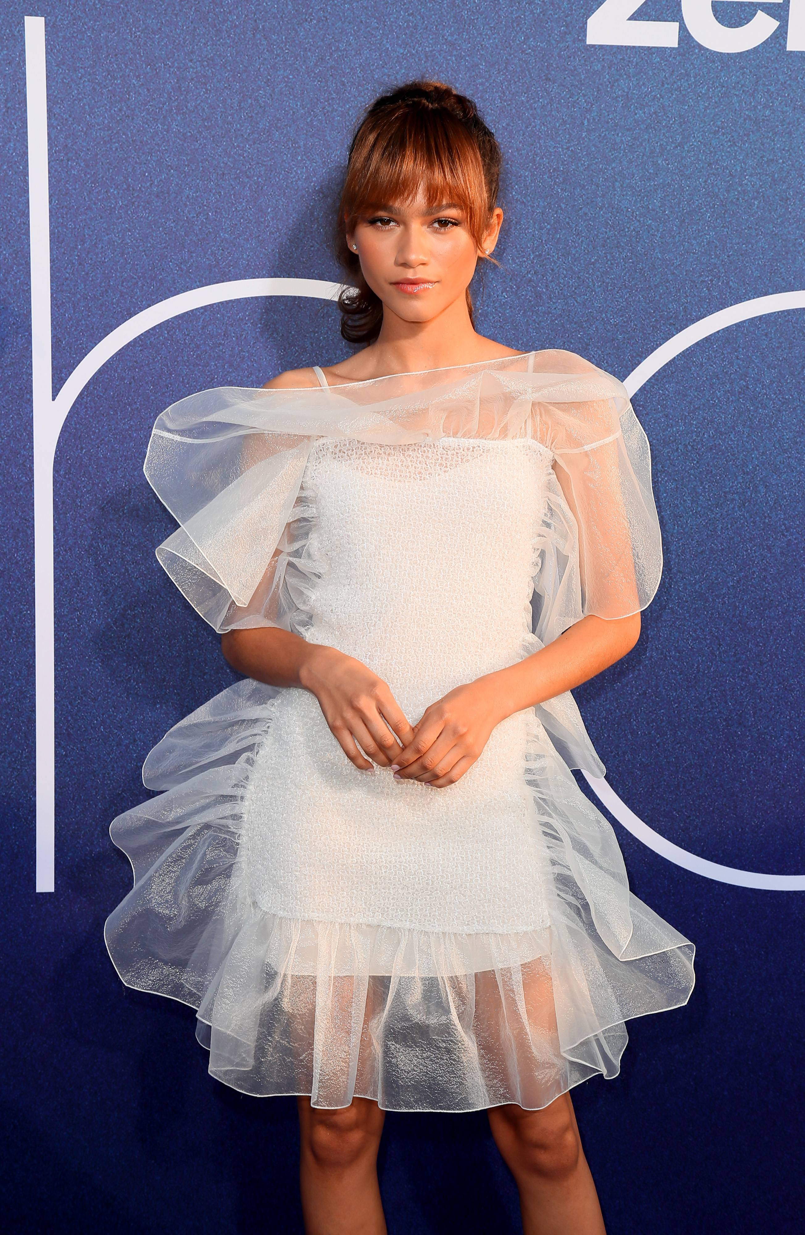 Zinkerbell - Zendaya is legit the fairy princess Barbie we all wished we had growing up! The fashion killer stepped out in an delicate, white, tulle and mesh Nina RicciFW19 Ready-To-Wear gown at the premiere of her new HBO show, Euphoria. (Photo: Leon Bennett/WireImage)