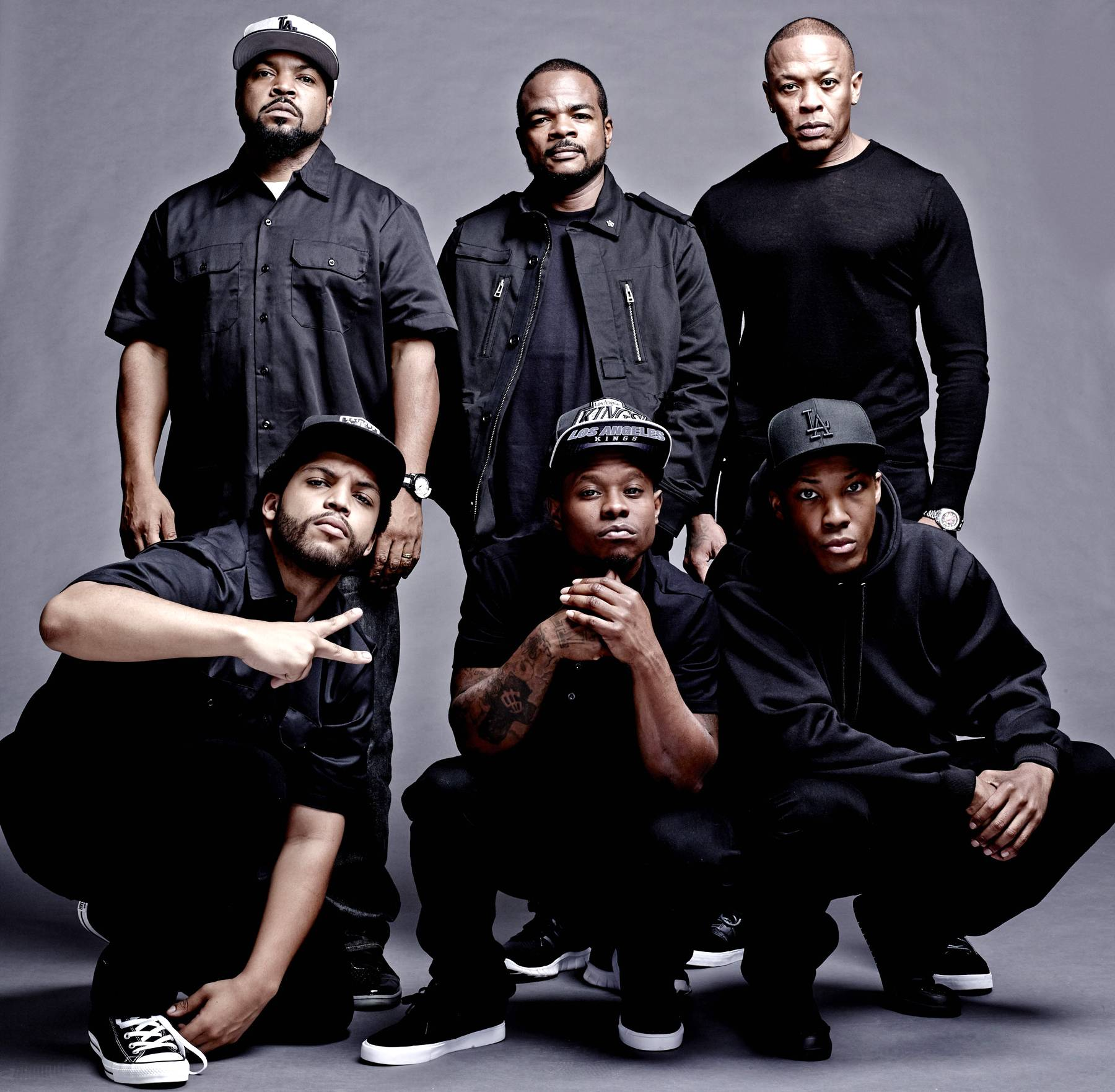 10 Things That Must Be Addressed in N.W.A. Movie - The casting for the starring roles in the upcoming N.W.A. biopic Straight Outta Compton is now complete as Aldis Hodge has been cast to play MC Ren while Neil Brown Jr. will play DJ Yella. Corey Hawkins and Jason Mitchell were previously cast to play Dr. Dre and Eazy-E while Ice Cube's son O'Shea Jackson Jr. will play portray his pops. The film will be directed by F. Gary Gray and is scheduled to hit theatres on August 14, 2015.Now with many biopics, creative licensing is usually taken and many facts are purposelyleft out or the truth is sometimes glossed over. With the living members of the group serving as producers of the film, let's hope this doesn't happen. Still, there are a few topics that we think need to be properly addressed in the upcoming film. — Michael Harris (@IceBlueVA)(Photo:Todd MacMillan/Universal Pictures)