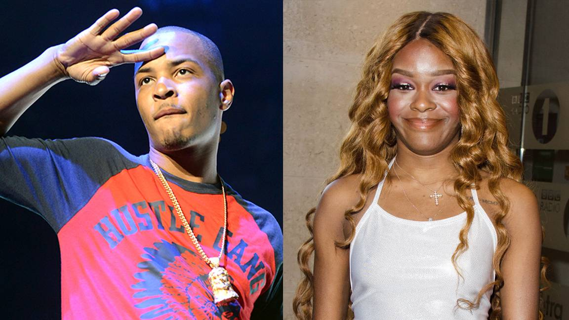 """Azealia BanksRandomly Attacks T.I.'s Family - After tweeting a series of insolent posts, including one about T.I.'s wife Tiny having a """"meth face,"""" harshly outspoken rapper Azealia Banks felt the wrath of T-I-P. He threatened to """"chew her throat off"""" and ultimately """"end"""" her if she ever disrespected his family again. Banks eventually deleted all of the T.I.-related posts on her account.Tweet: """"U want no mediocre...Have you seen your wife?""""(Photos from Left: Paras Griffin /Landov,PBI/WENN.com)"""