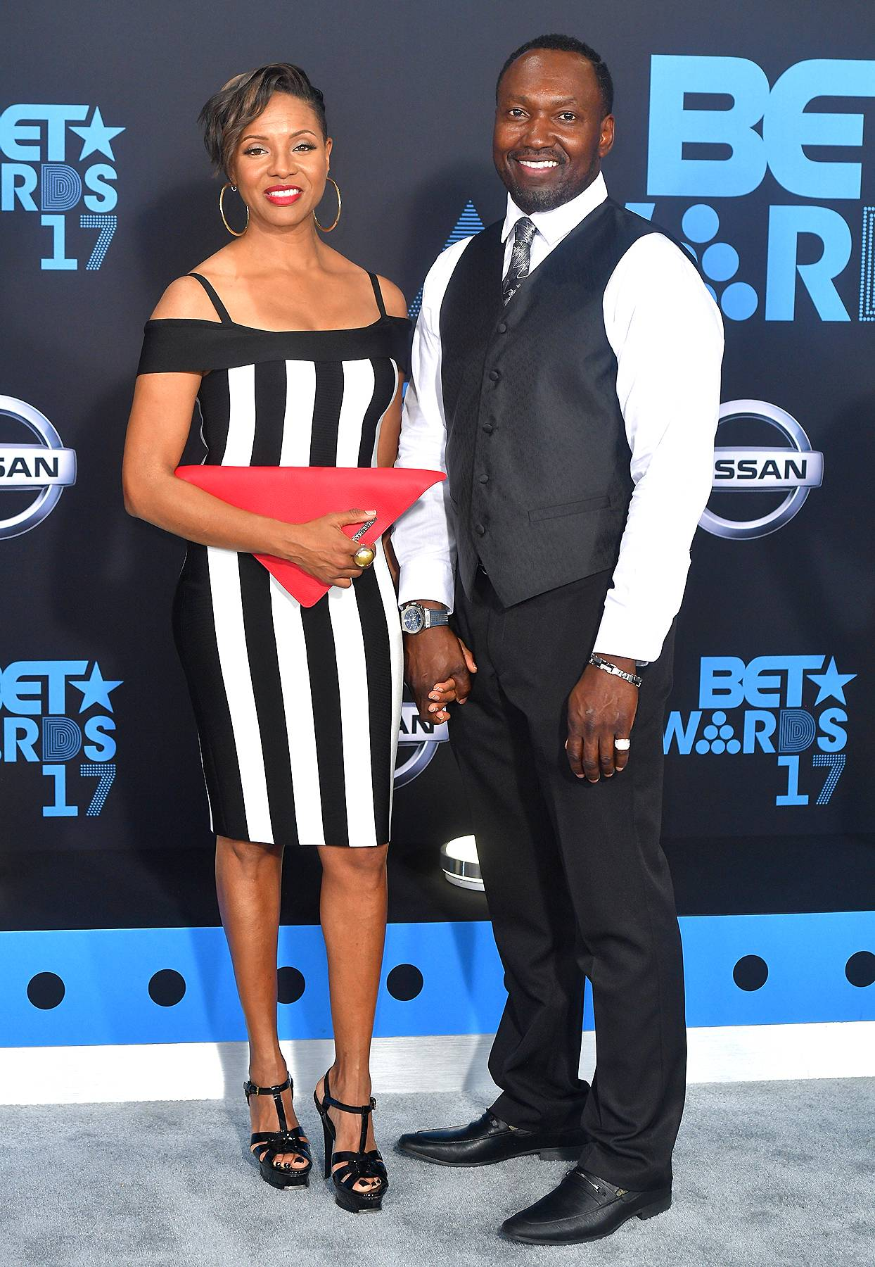 MC Lyte, John Wyche attend the 2017 BET Awards at Microsoft Theater on June 25, 2017 in Los Angeles, California. (Photo: Prince Williams/Wireimage)