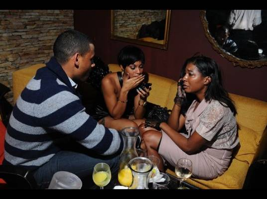 Election Night - Pierre helps Brooke and Briana compose themselves after the emotional victory of Barack Obama.