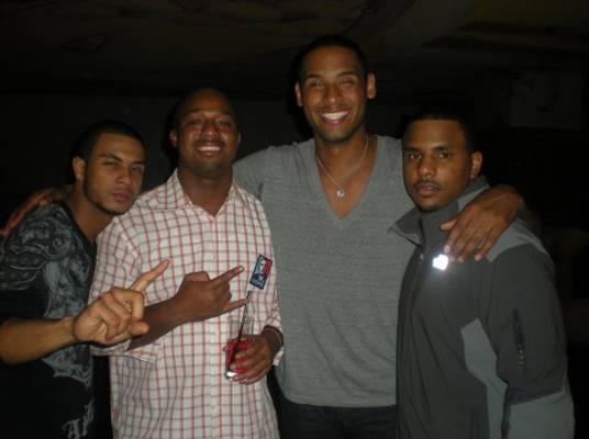 The Fellas - Jason, Landon, Pierre and Aden smile for the camera.