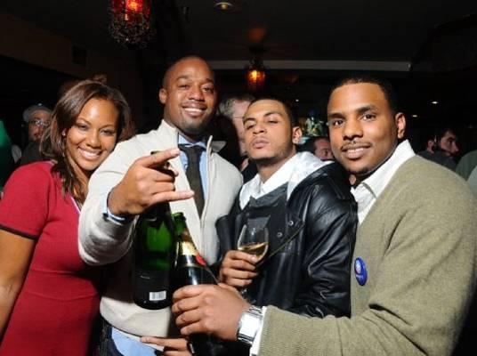 Pop Champagne - Ashlie, Landon, Jason and Aden toast to the good life.