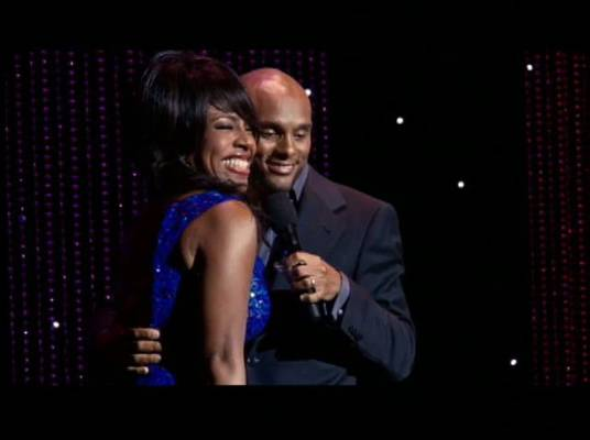 Kenny Lattimore - Kenny Lattimore gives Sheryl Lee Ralph a squeeze on stage in season three.