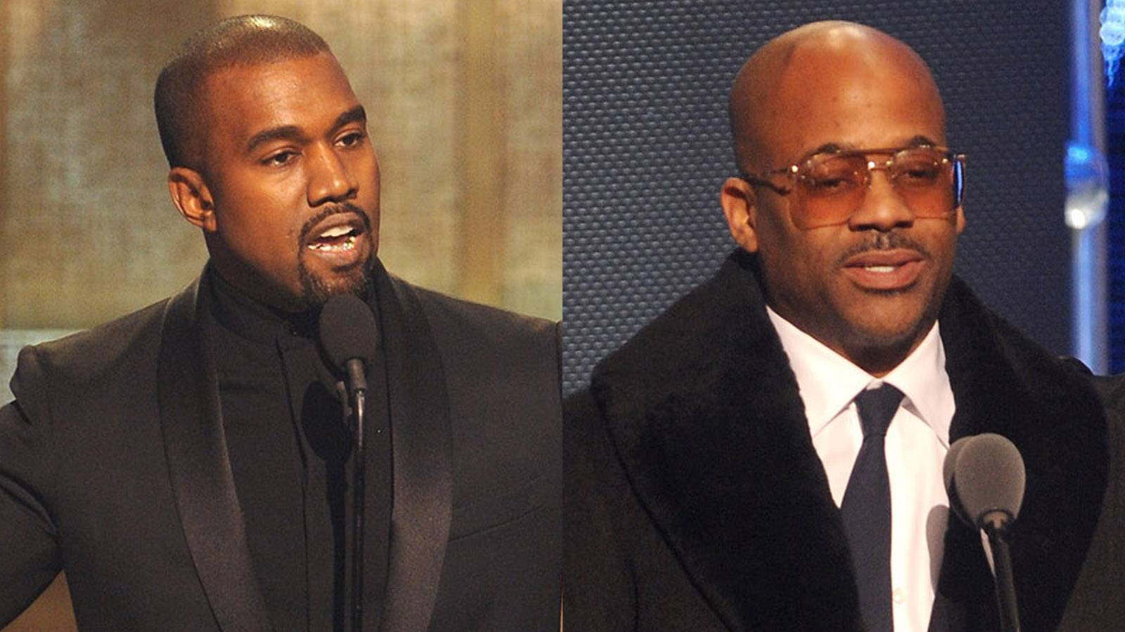 Kanye and Dame Back Together - Kanye West and Damon Dash had a moment on stage over the weekend during a taping of BET Honors. Be sure to tune in on February 23 at 9P/8C.  (Photos: Brad Barket/BET/Getty Images for BET)