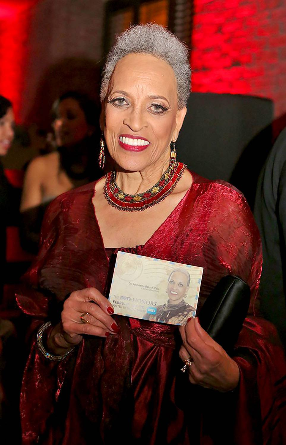 An Honor to Be in Her Presence - Dr. Johnetta B Cole's smiles lights up the room.(Photo: Phelan Marc/BET)