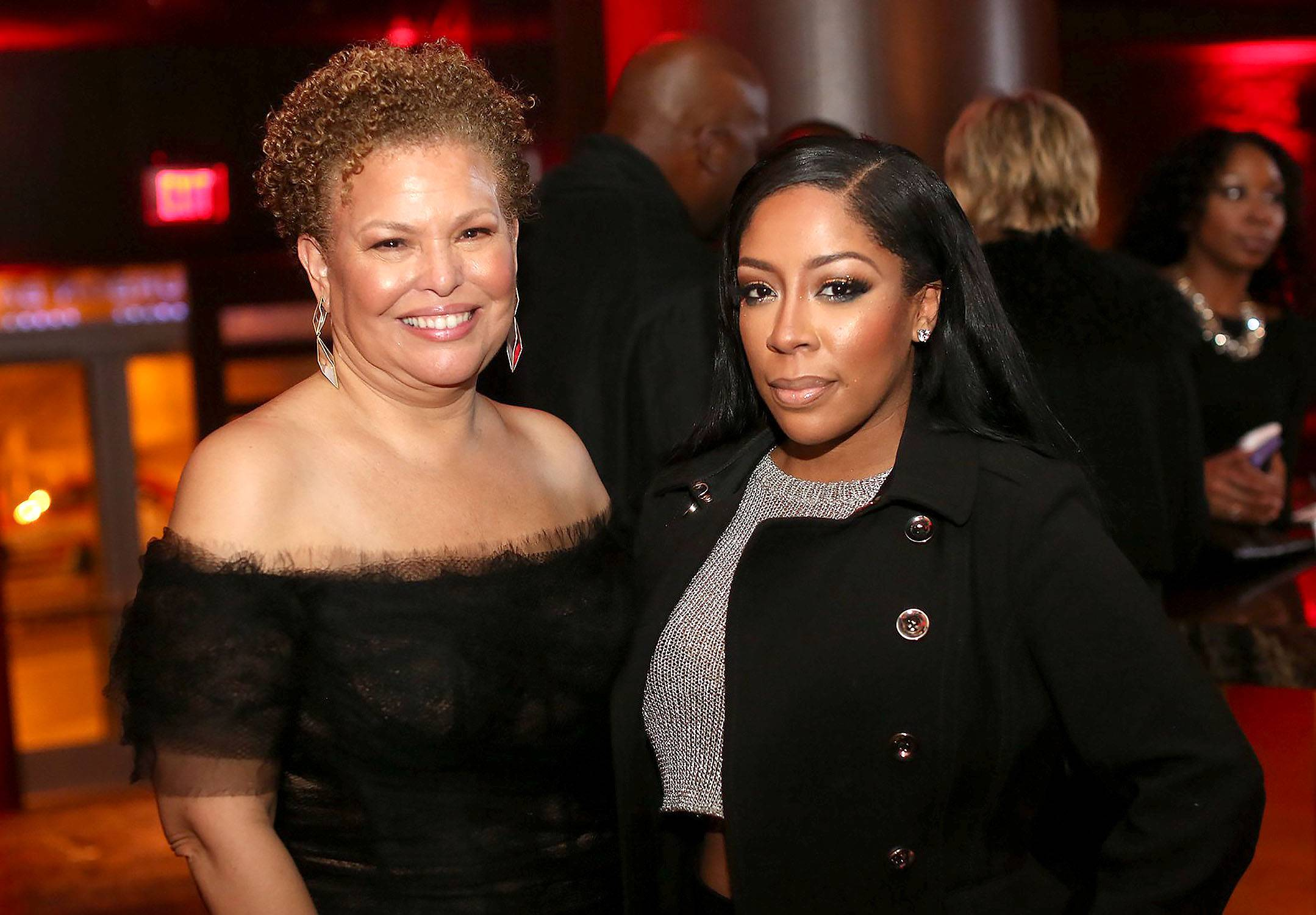 Divas Simply Be Great - Debra Lee and K. Michelleshare in a beautiful moment.(Photo: Phelan Marc/BET)
