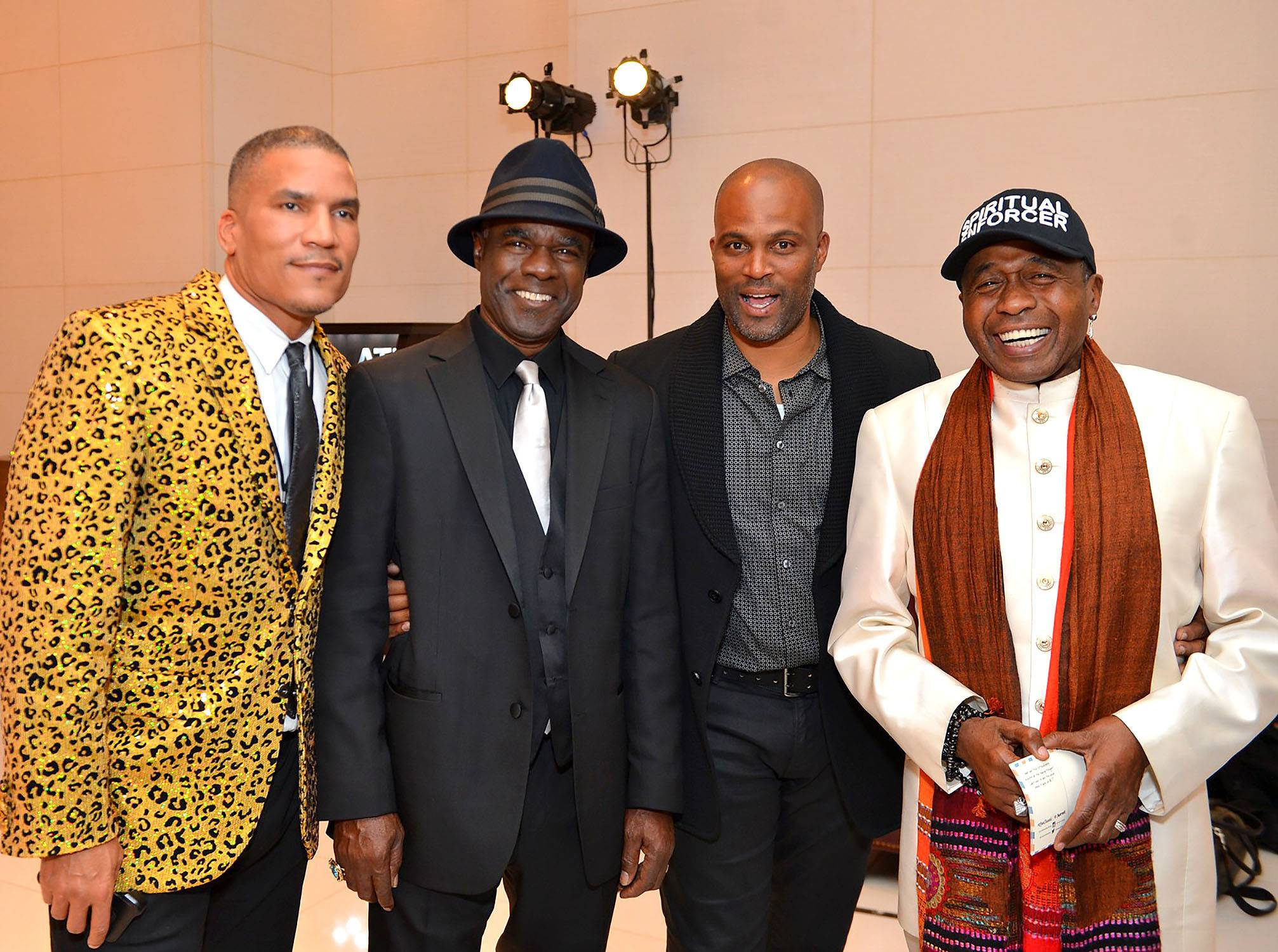 A Lot of Power in One Place - Executive Vice President and General Manager of CENTRIC, Paxton Baker (far left) with Glynn Turman, Chris Spencer and Ben Vereen all stand like kings.  (Photo: Phelan Marc/BET)