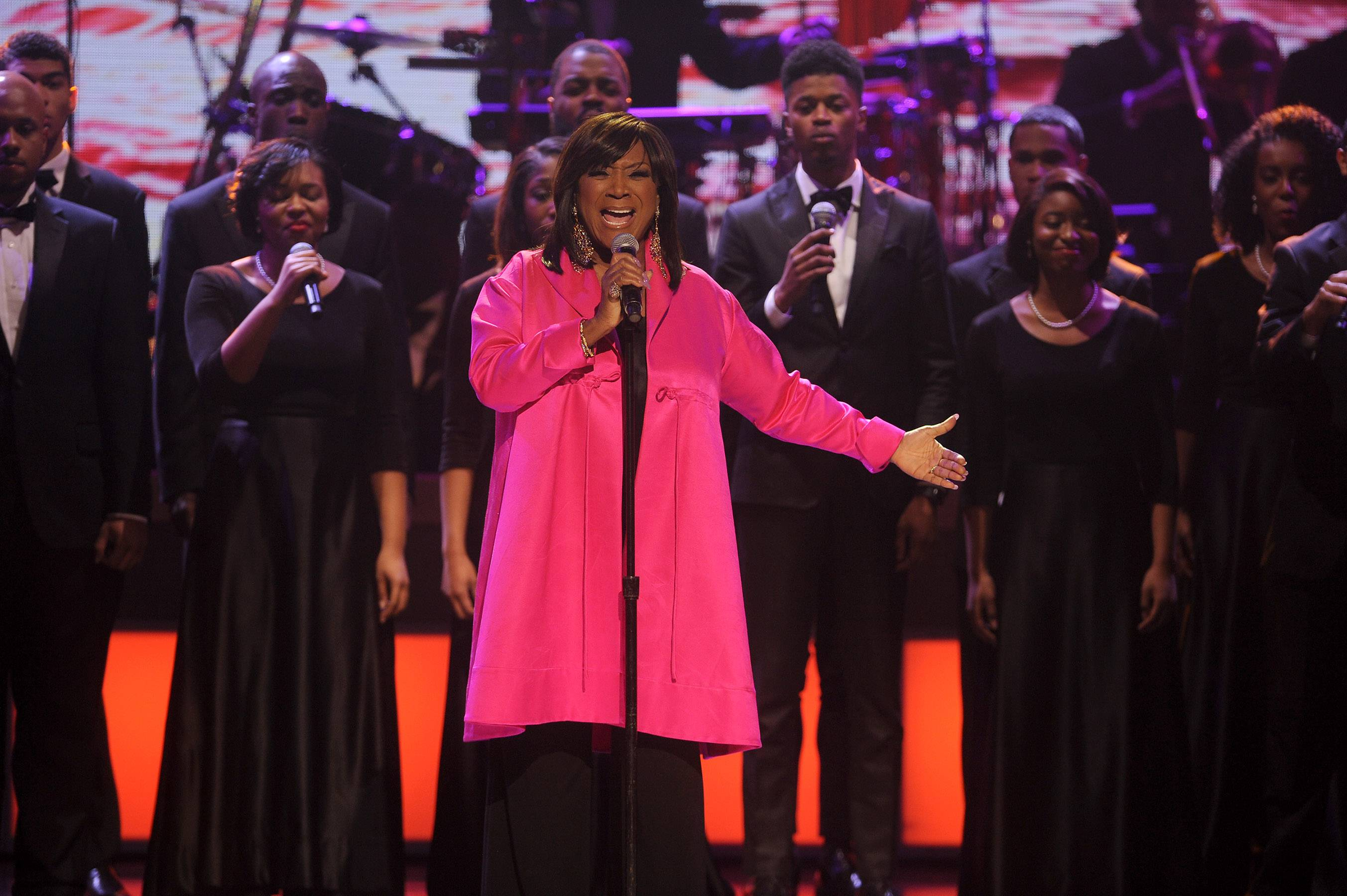 Howard and Spelman Choirs Perform With Patti LaBelle - Plus, a Norfolk State University student was left with a gash after being bitten by K-9.?Natelege Whaley (@Natelege_)  Members of the Howard University and Spelman College Choir were on stage Saturday with legendary singer Patti LaBelle to perform at the BET Honors as a part of a tribute to actress and honoree Phylicia Rashad. The BET Honors airs Feb. 23.(@Natelege_)    (Photo: Brad Barket/BET/Getty Images for BET)