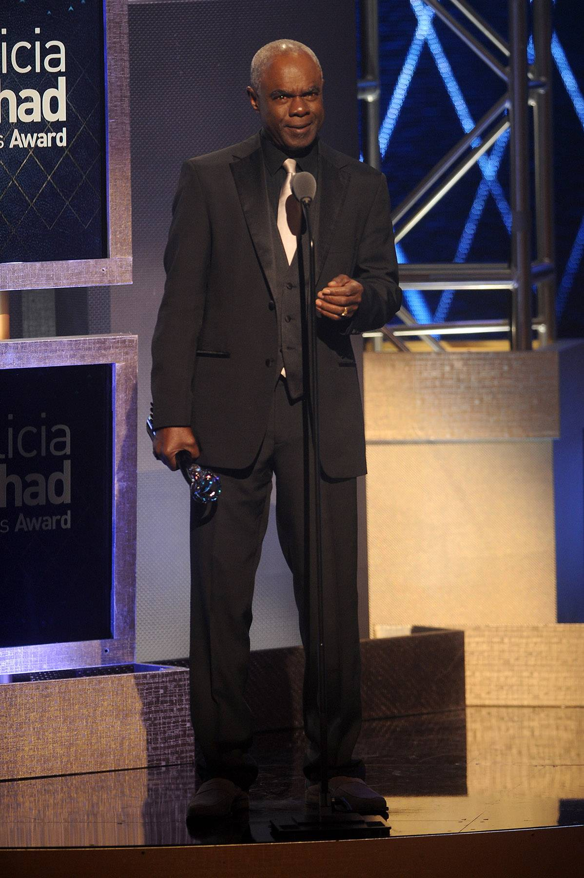 Close Ties  - Actor Glynn Turman presents the award for Theatrical Arts to the legendary and respected Phylicia Rashad for her honorable roles throughout her lengthy career. (Photo: Brad Barket/BET/Getty Images for BET)