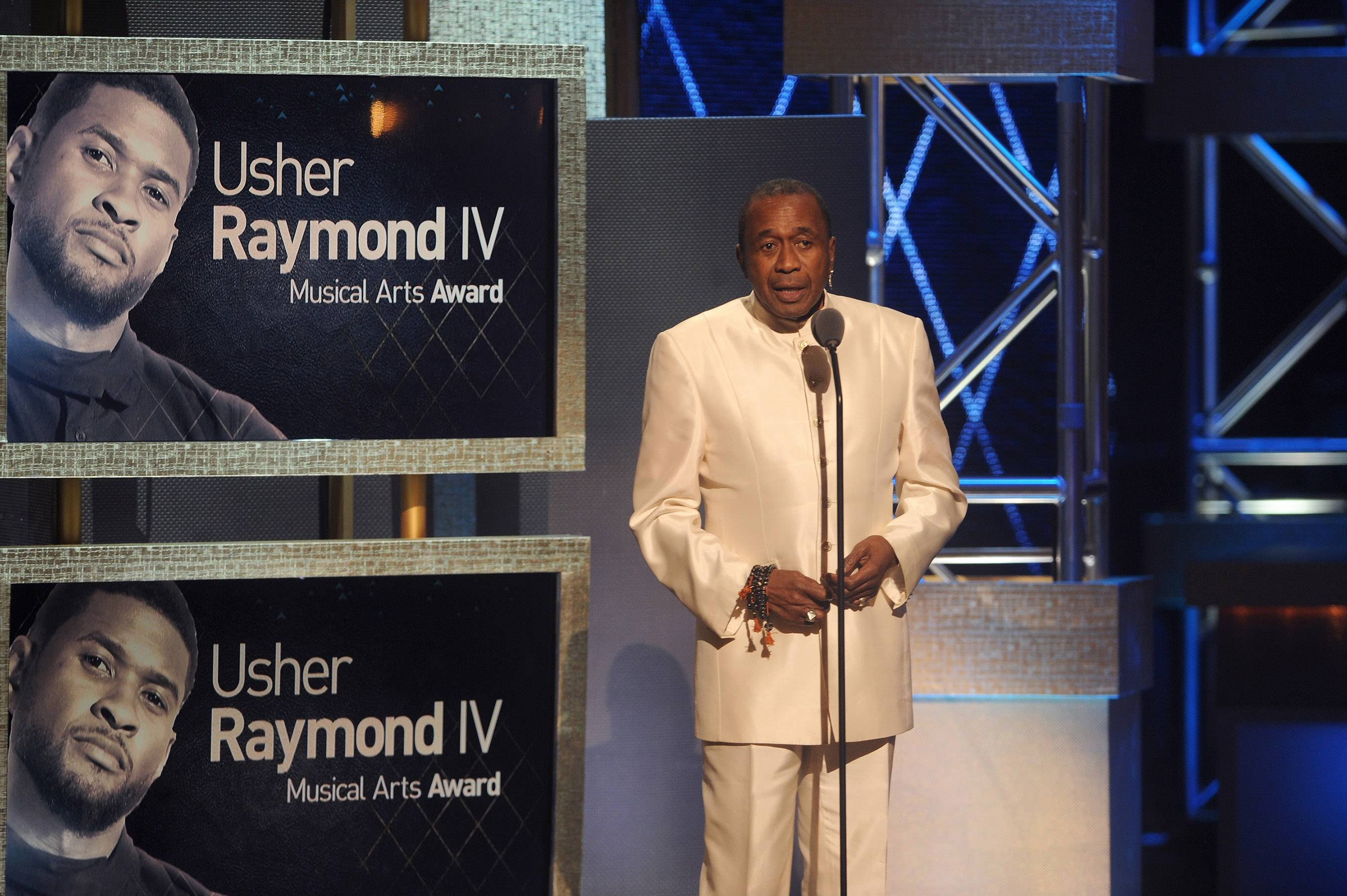 Recognizing Talent  - Actor Ben Vereen recognizes his god son and The BET HonorsMusical Arts Award honoreeUsher Raymond IV. Vereen explains how proud he is of his success and progress as an artist and philanthropist. (Photo: Brad Barket/BET/Getty Images for BET)