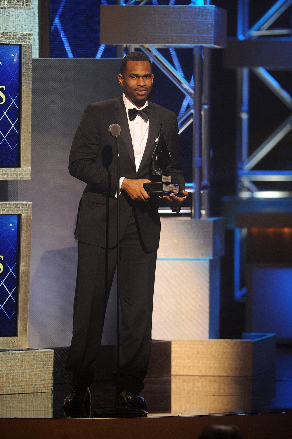 Digital Connection  - The BET Honors Digital Special Recognition recipientKwame Simmons dedicates his acceptance speech to the communities that he works hard to influence and educate. (Photo: Brad Barket/BET/Getty Images for BET)