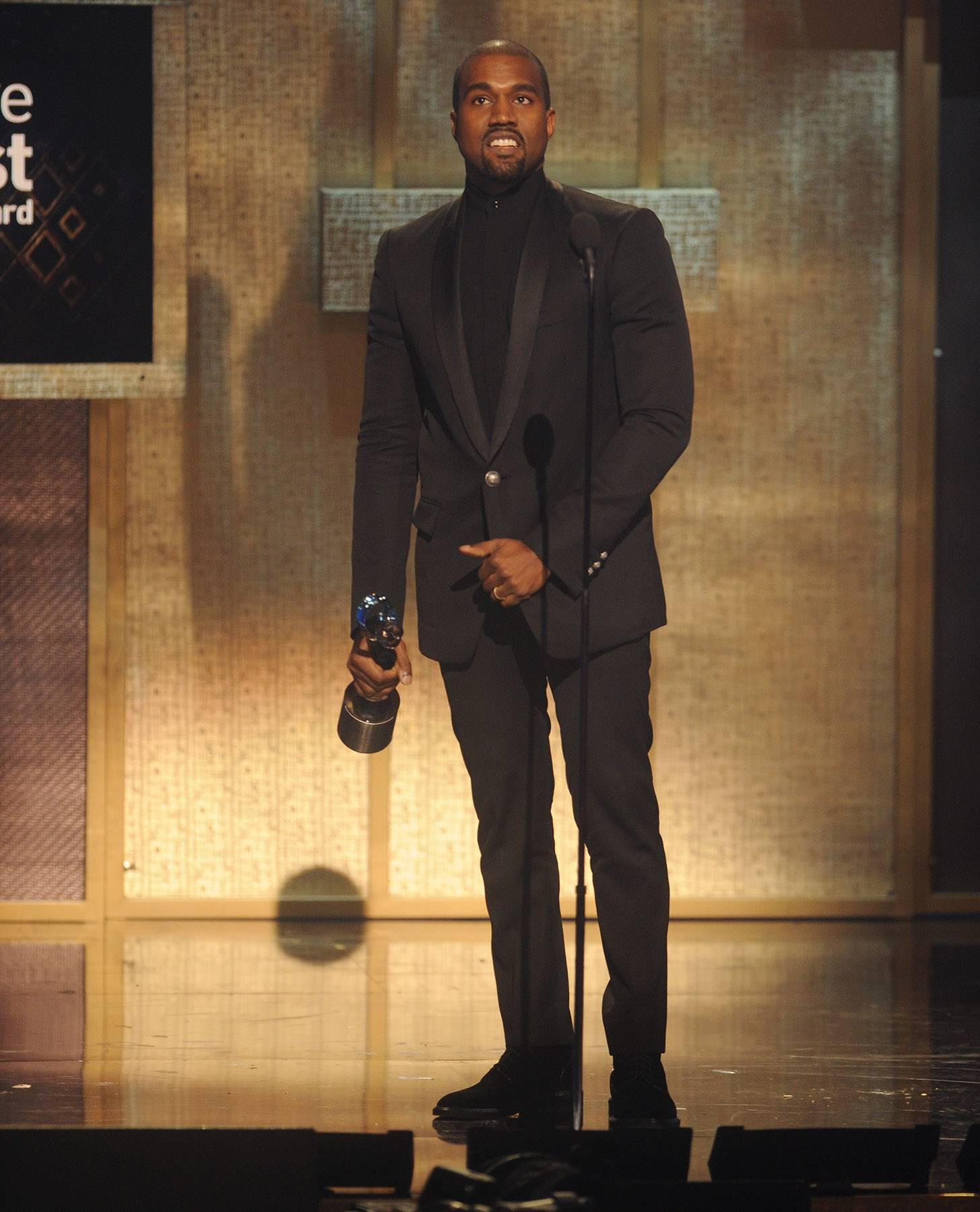 Yeezus Spits Knowledge  - The BET Honors Visionary Award honoreeKanye West gave one of the most esteemed speeches of the night and really woke up everyone in the room. The moment was sincere and epic! (Photo: Brad Barket/BET/Getty Images for BET)