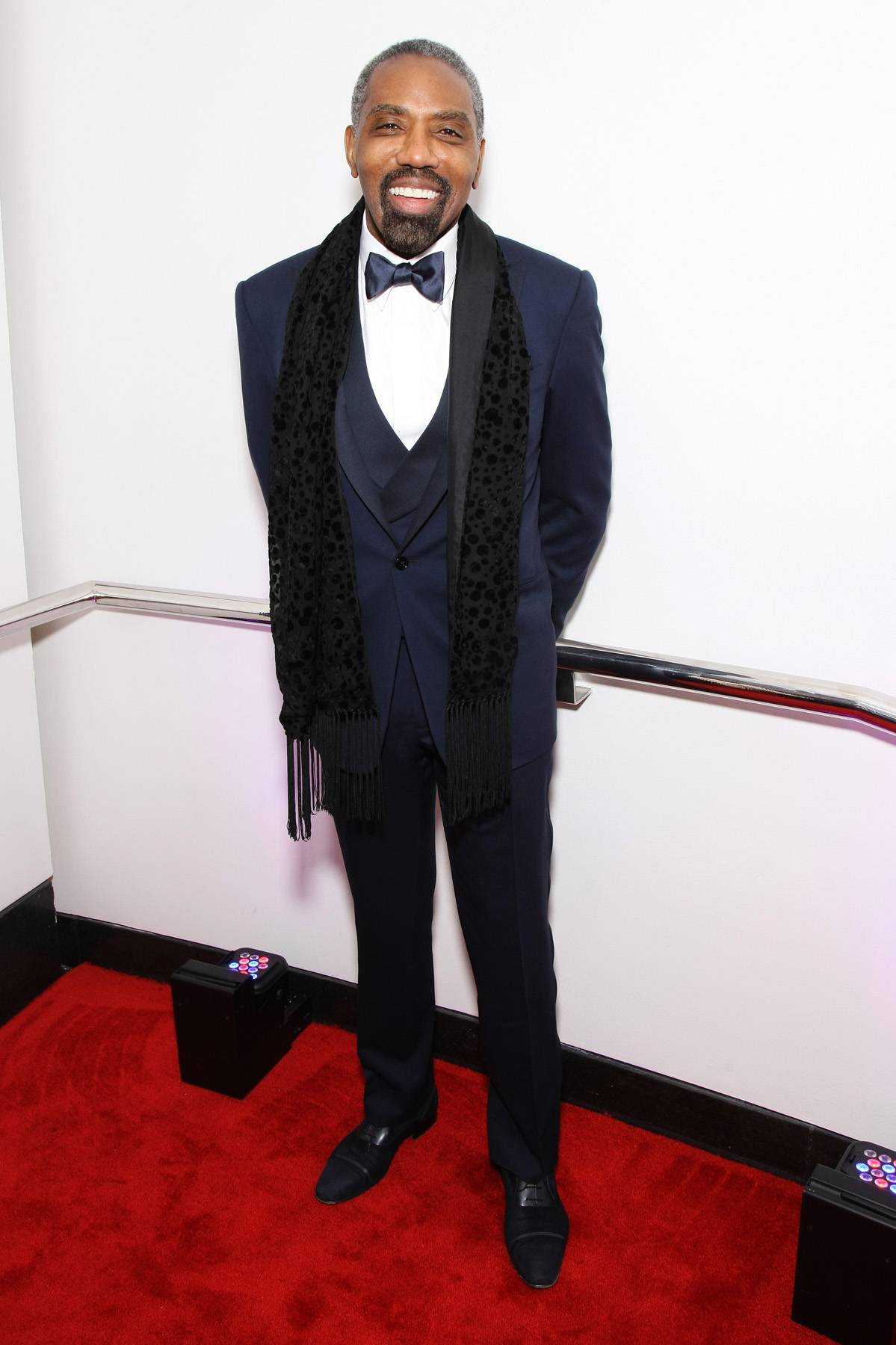 Broadcasting Style  - President of Broadcast Media Sales for BET Louis Carr takes to the carpet in his dashing suit. (Photo: Bennett Raglin/BET/Getty Images for BET)