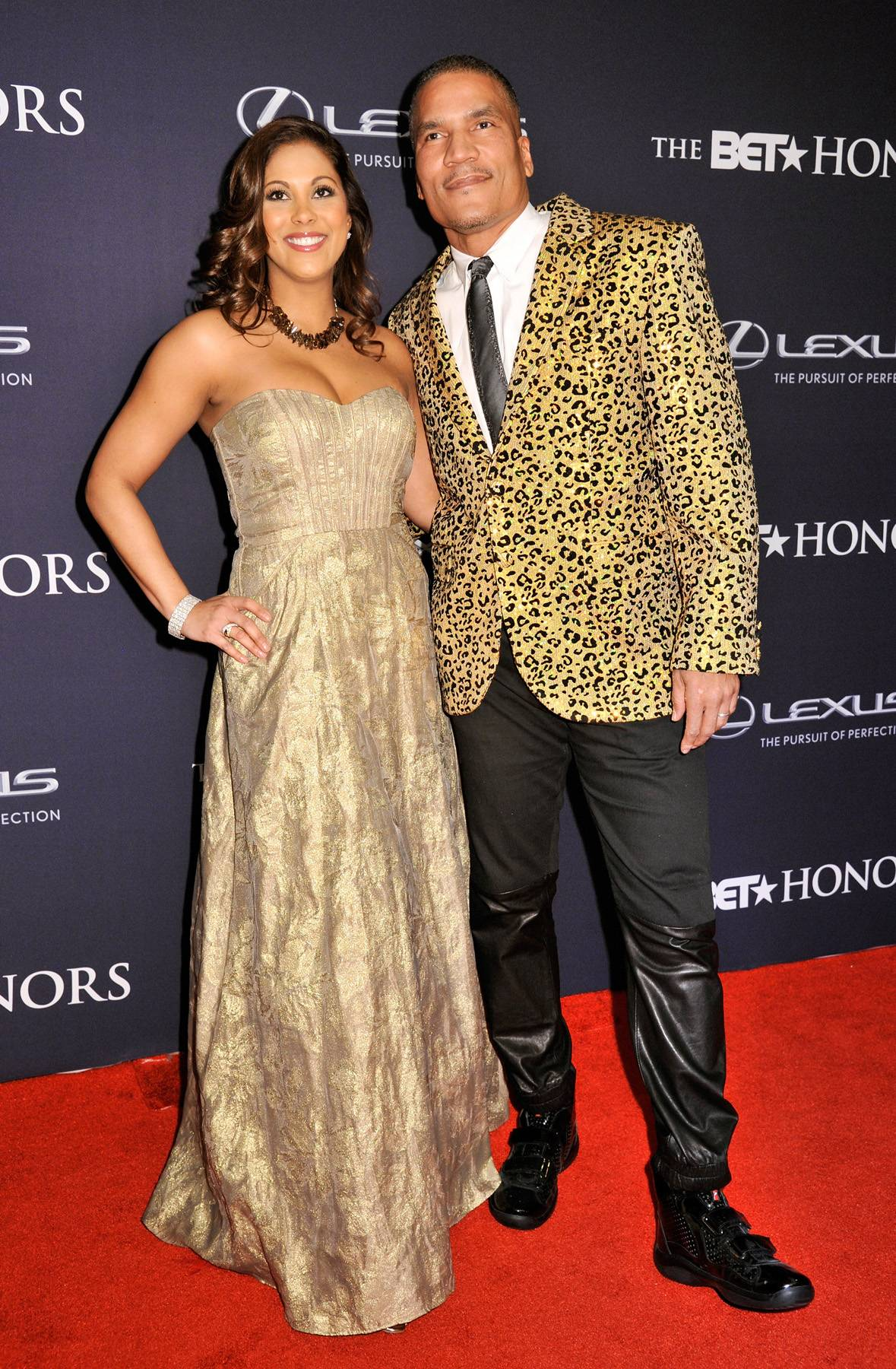 Living Life Like It's Golden  - Rachel Stuart and Executive Vice President and General Manager of CENTRICPaxton Bakercame on the carpet to give you a touch of gold. (Photo: Kris Connor/BET/Getty Images for BET)