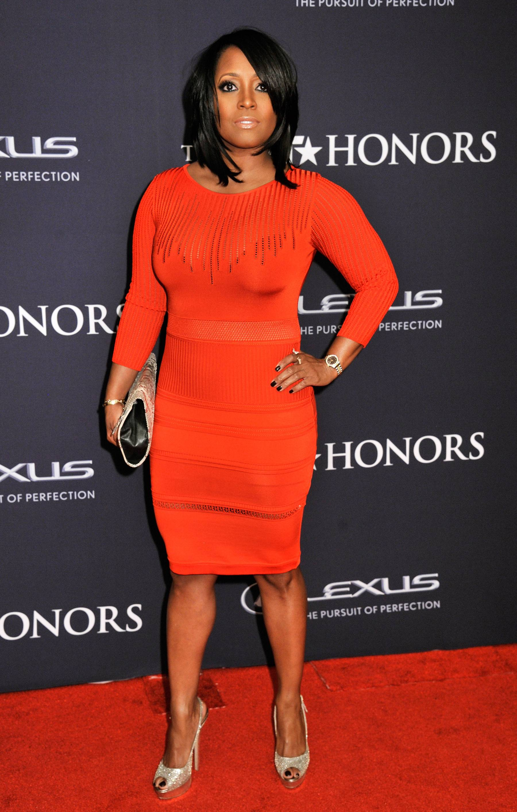 Rose Red  - Keshia Knight Pulliam is serving up all red on the red carpet. (Photo by Kris Connor/BET/Getty Images for BET)
